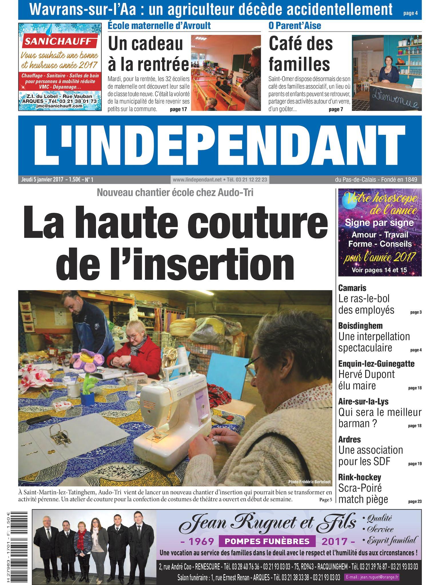 Calaméo L indépendant Semaine 01 2017