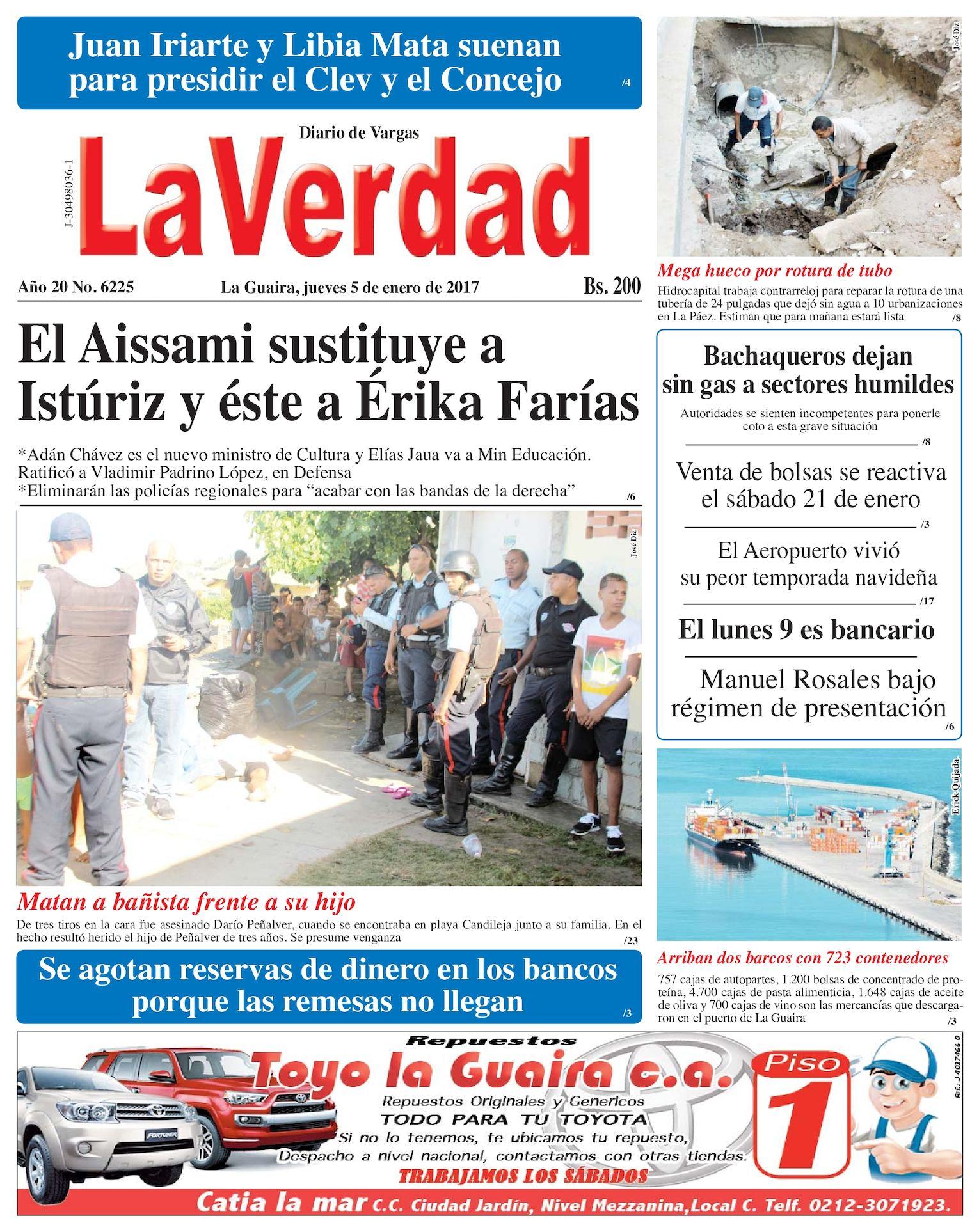 Calaméo - La Guaira, jueves 05 de enero de 2017. Edición 6225