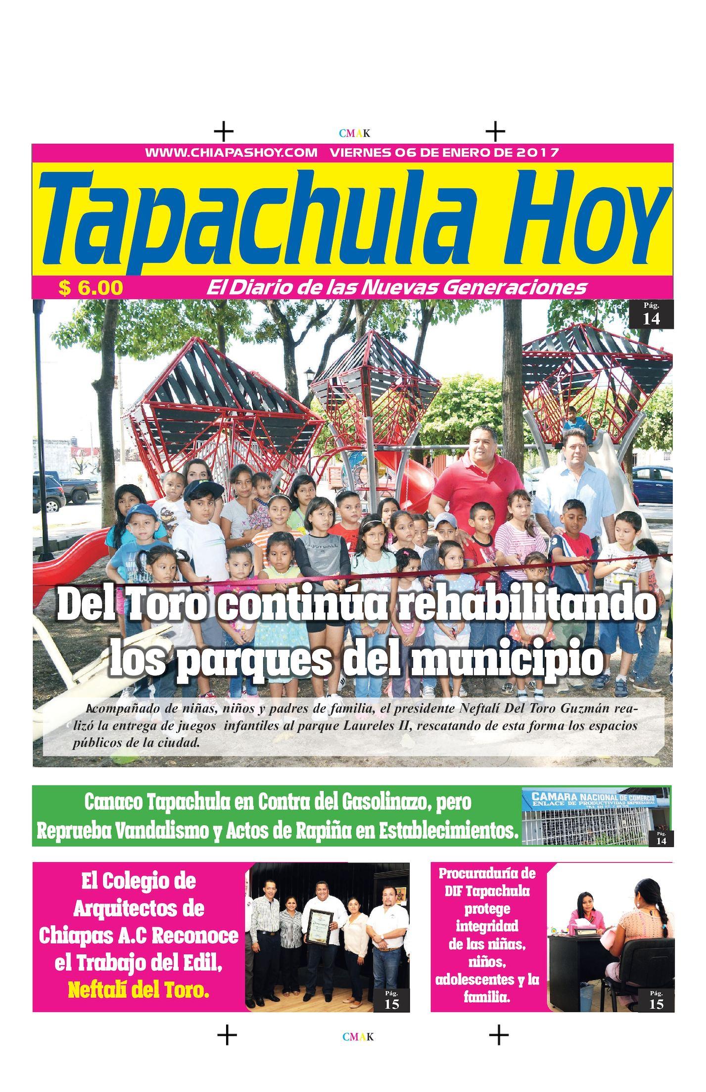 TAPACHULA HOY 06 DE ENERO