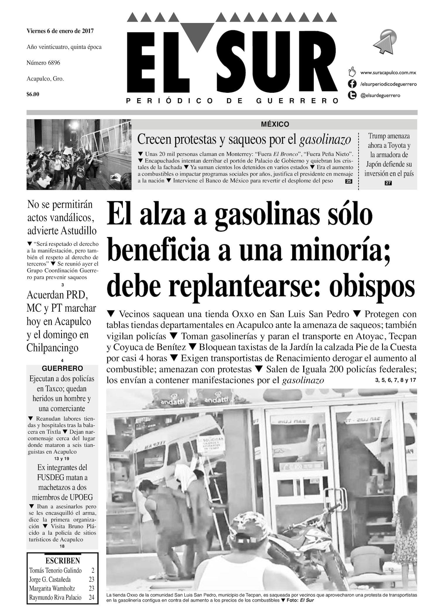 Calaméo - El Sur Viernes 06012017