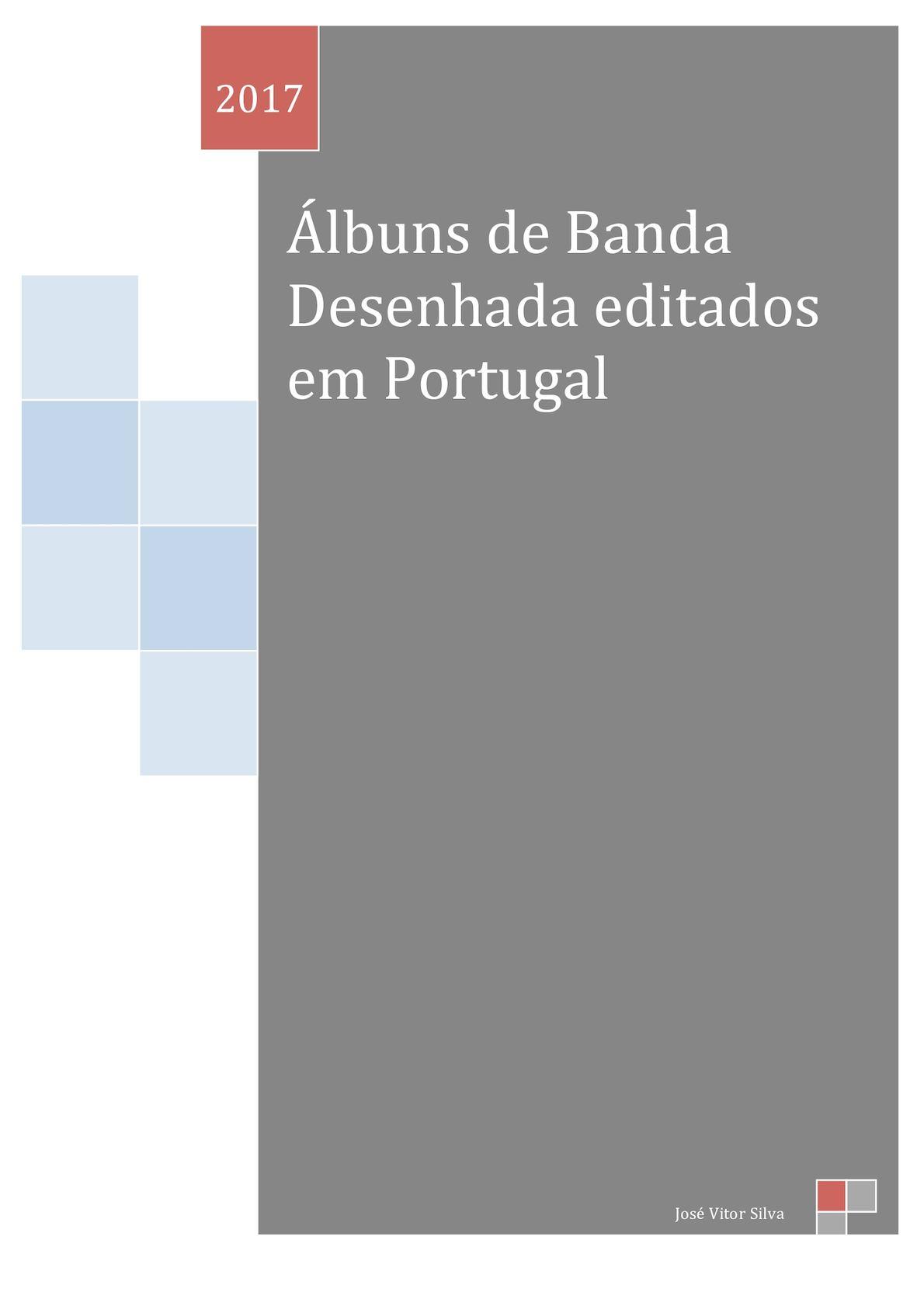 Albuns de BD publicados em Portugal - Edição de 2017