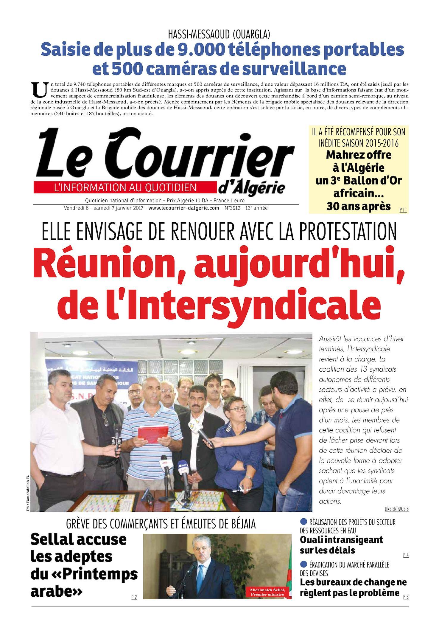 Le Courrier D'Algérie Du Samedi 7 Janvier 2017