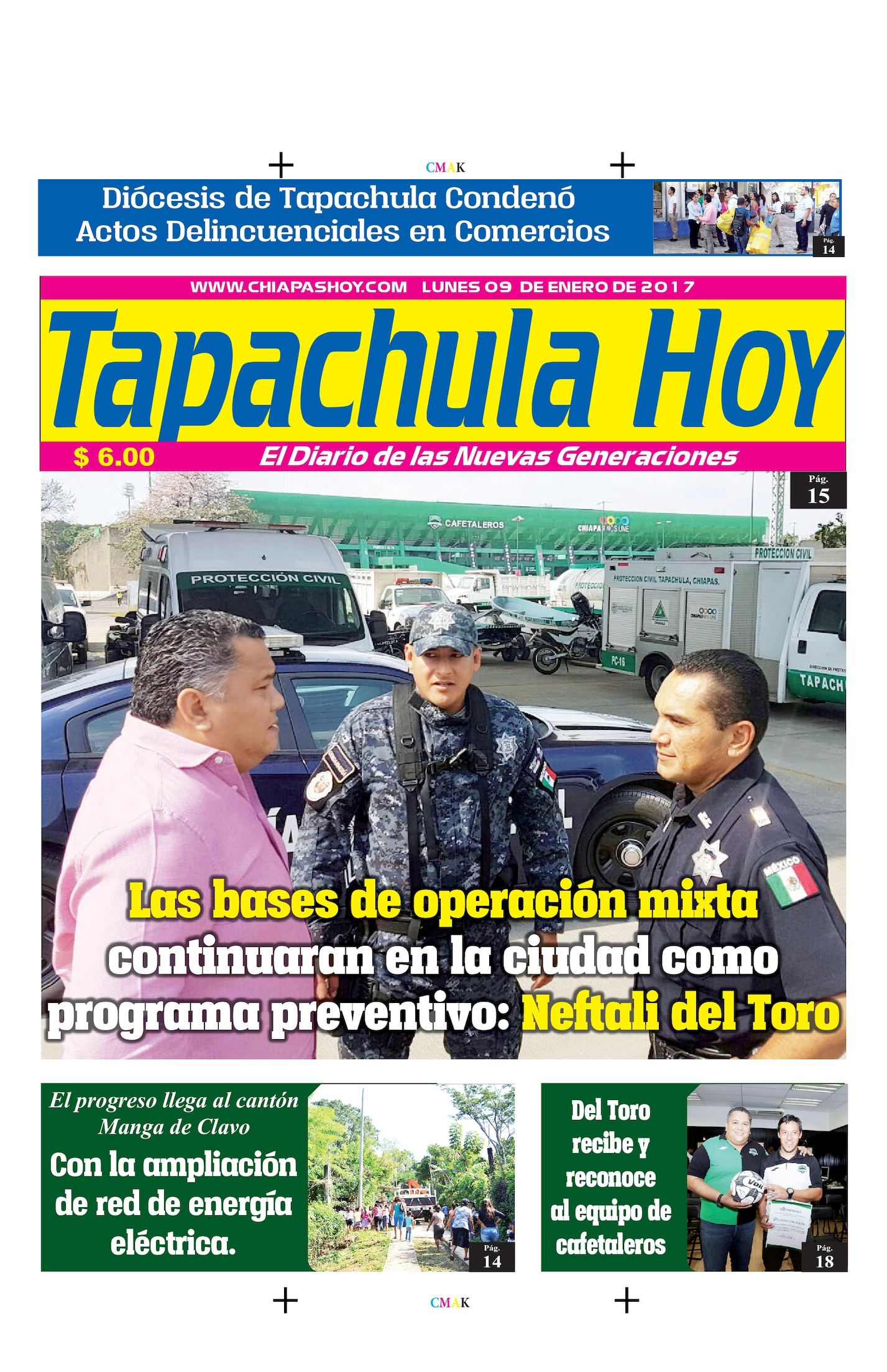 TAPACHULA HOY 09 DE ENERO