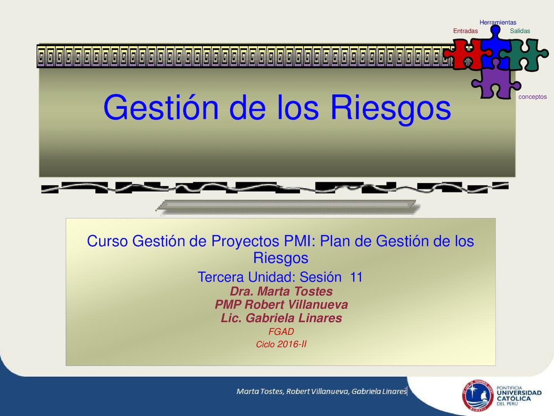 Gestión De Los Riesgos Francisco Javier Cervigon Ruckauer