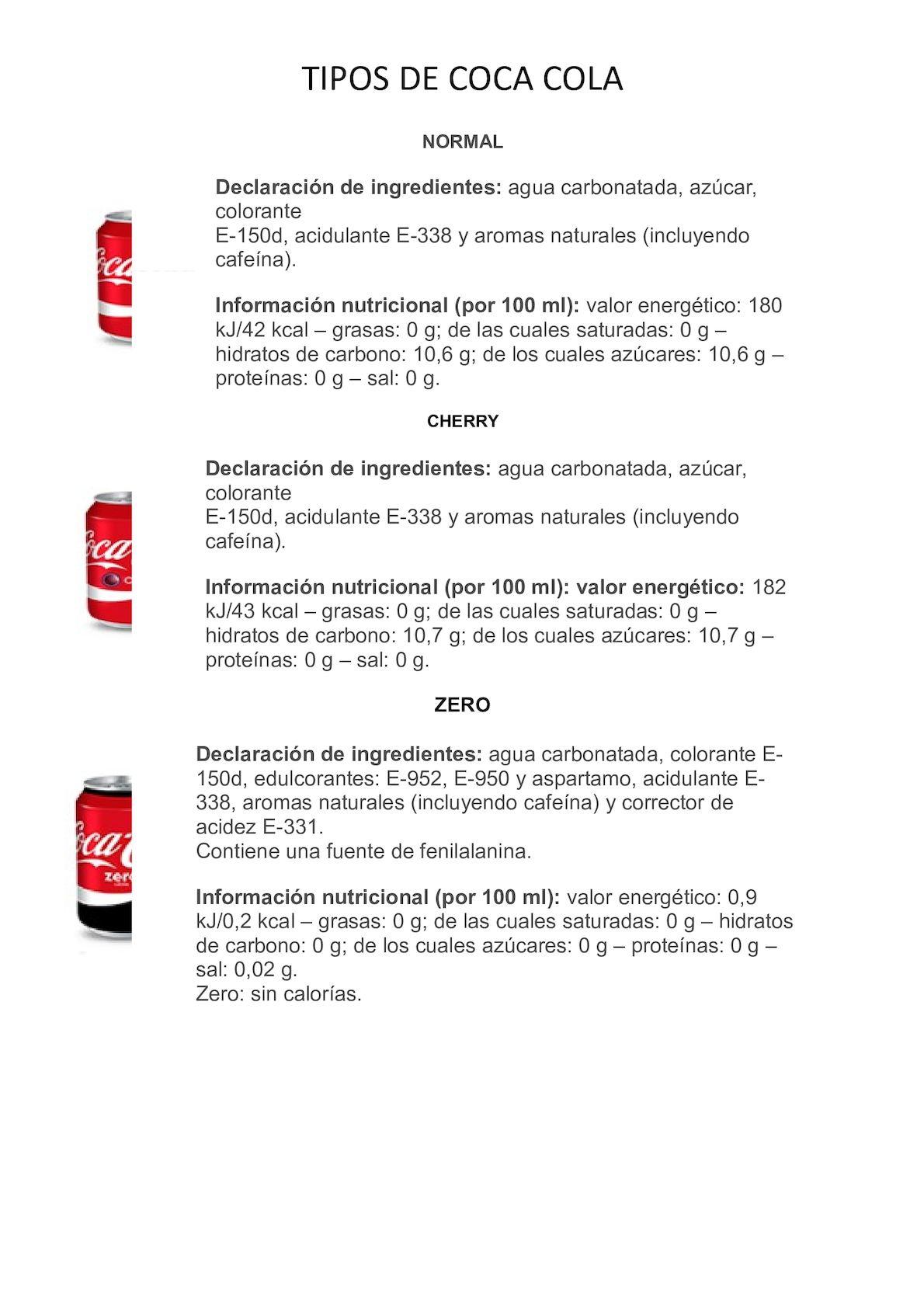 Catalogo Coca Cola
