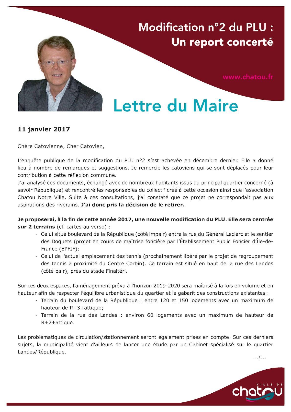 LETTRE MAIRE JANVIER 2017