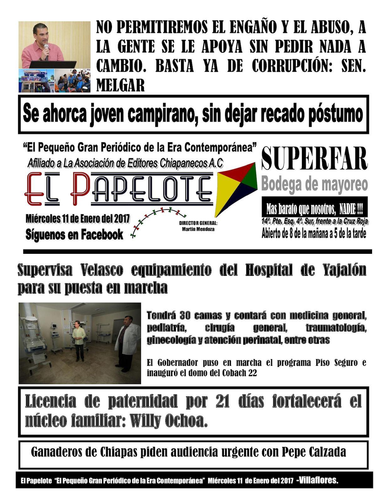 Calaméo - El Papelote - Miércoles 11 de Enero de 2017