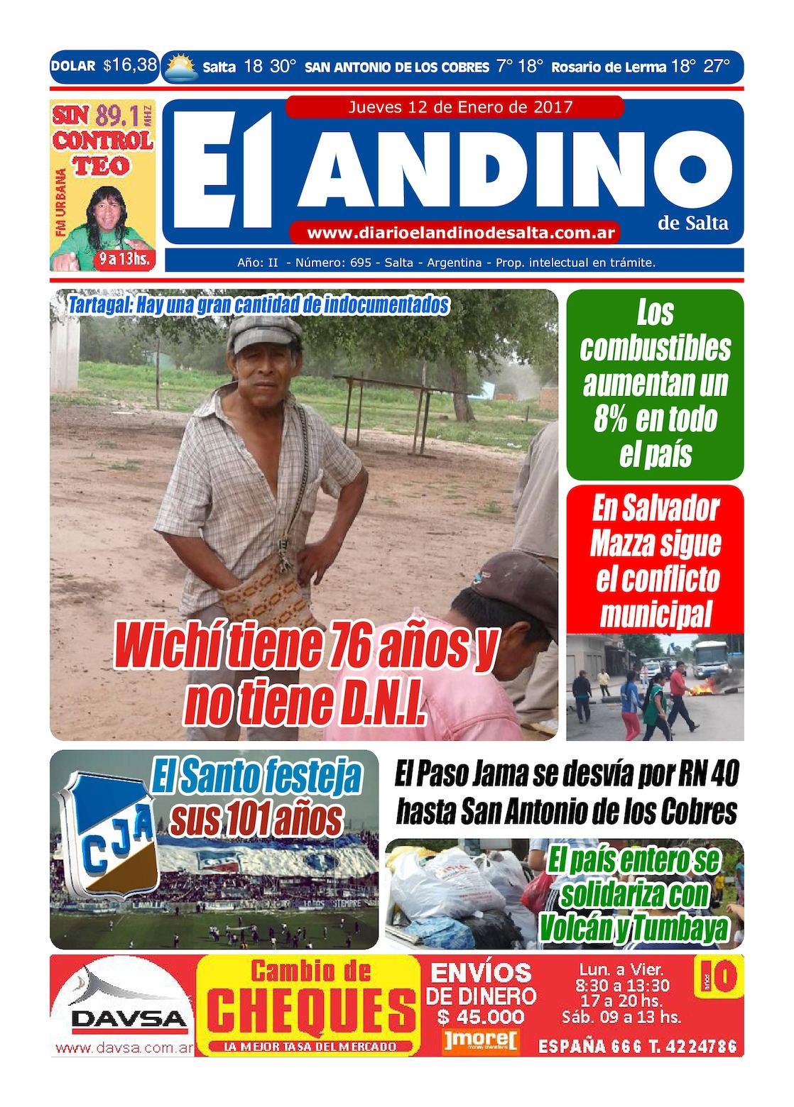 Diario El Andino De Salta 12 01 2017