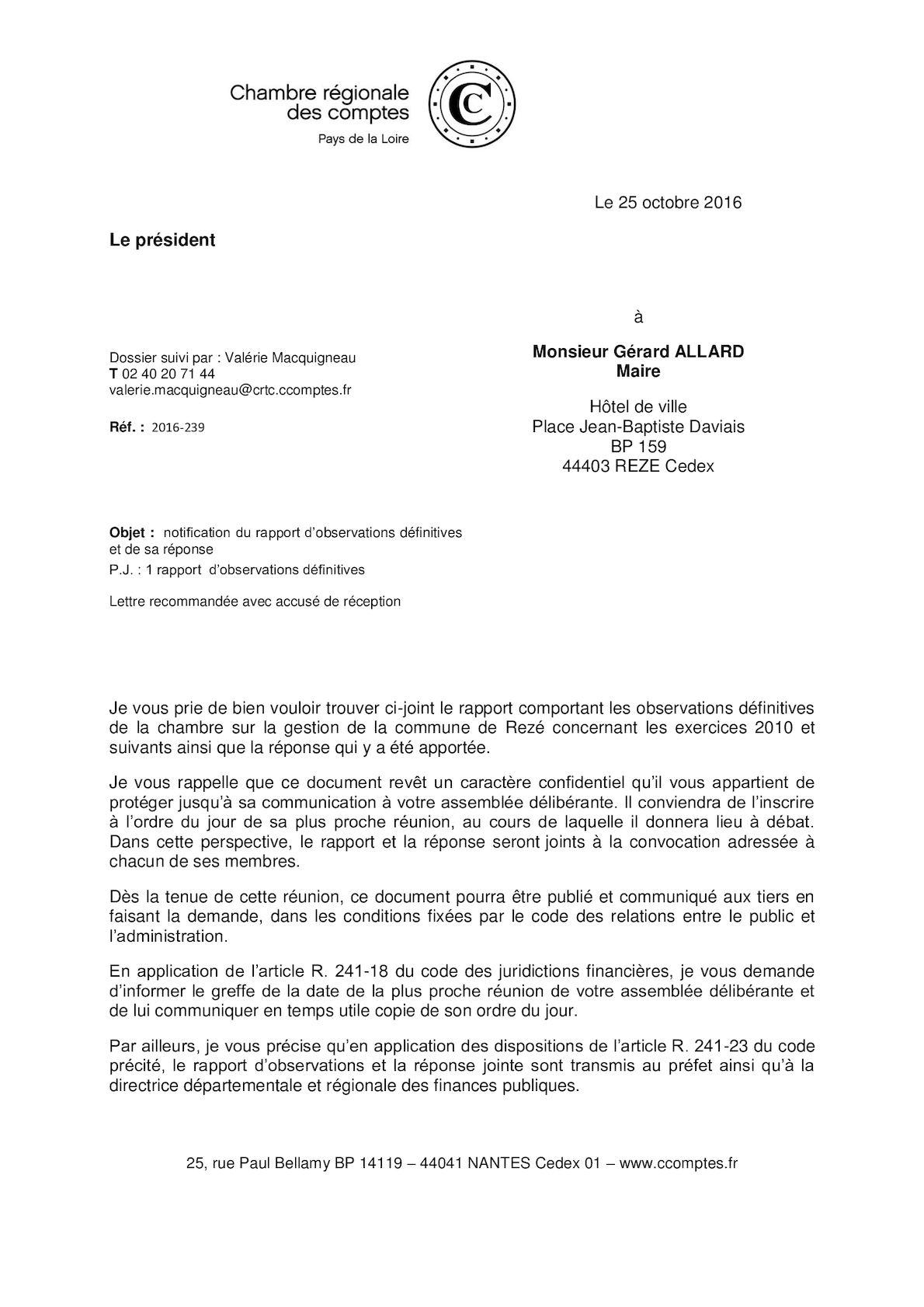 Calameo Rapport 2016 De La Chambre Regionale Des Comptes Sur La