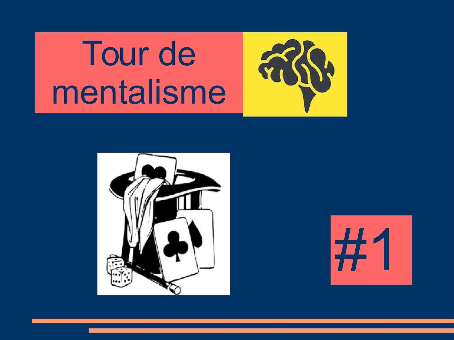 Calaméo - #1 Tours De Mentalisme