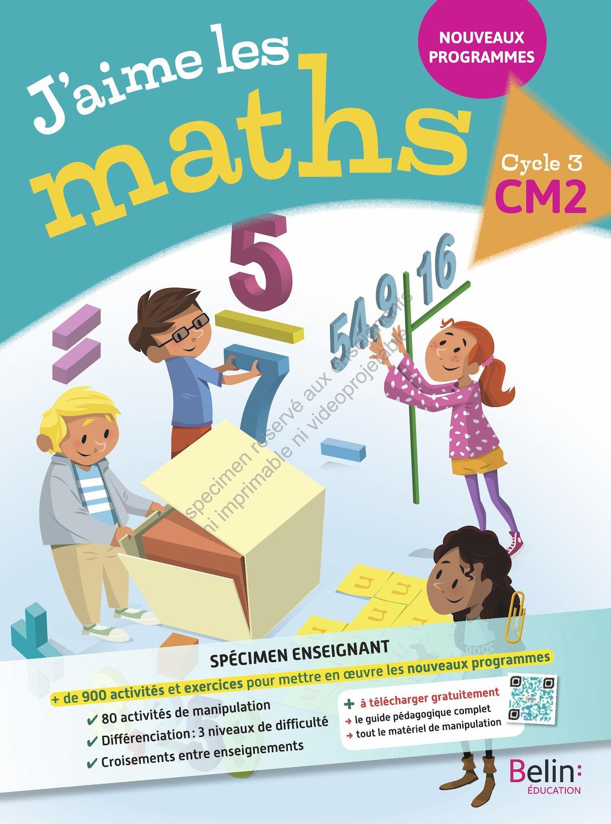 j'aime les maths CM2