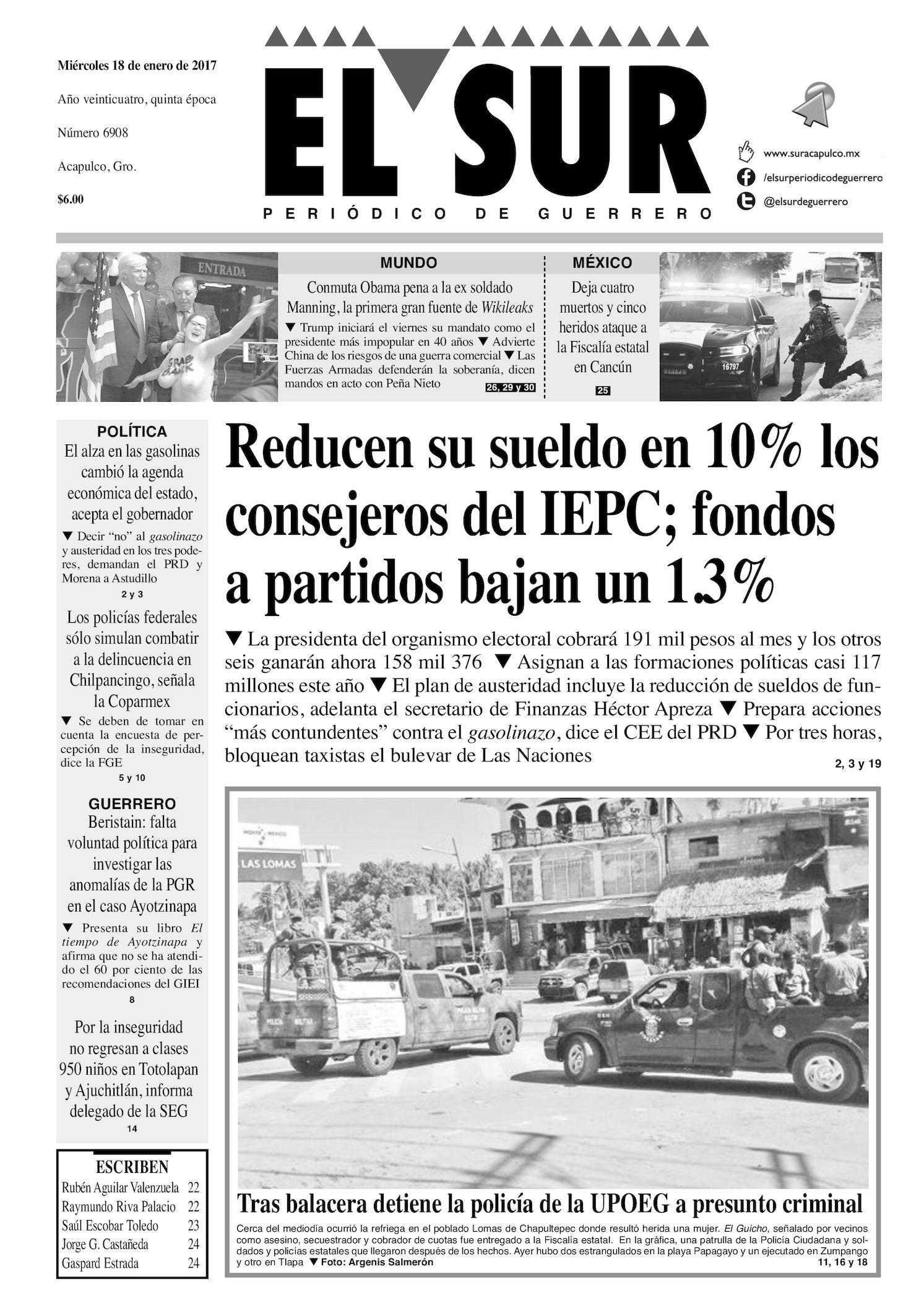 Calaméo - El Sur Miercoles 18012017