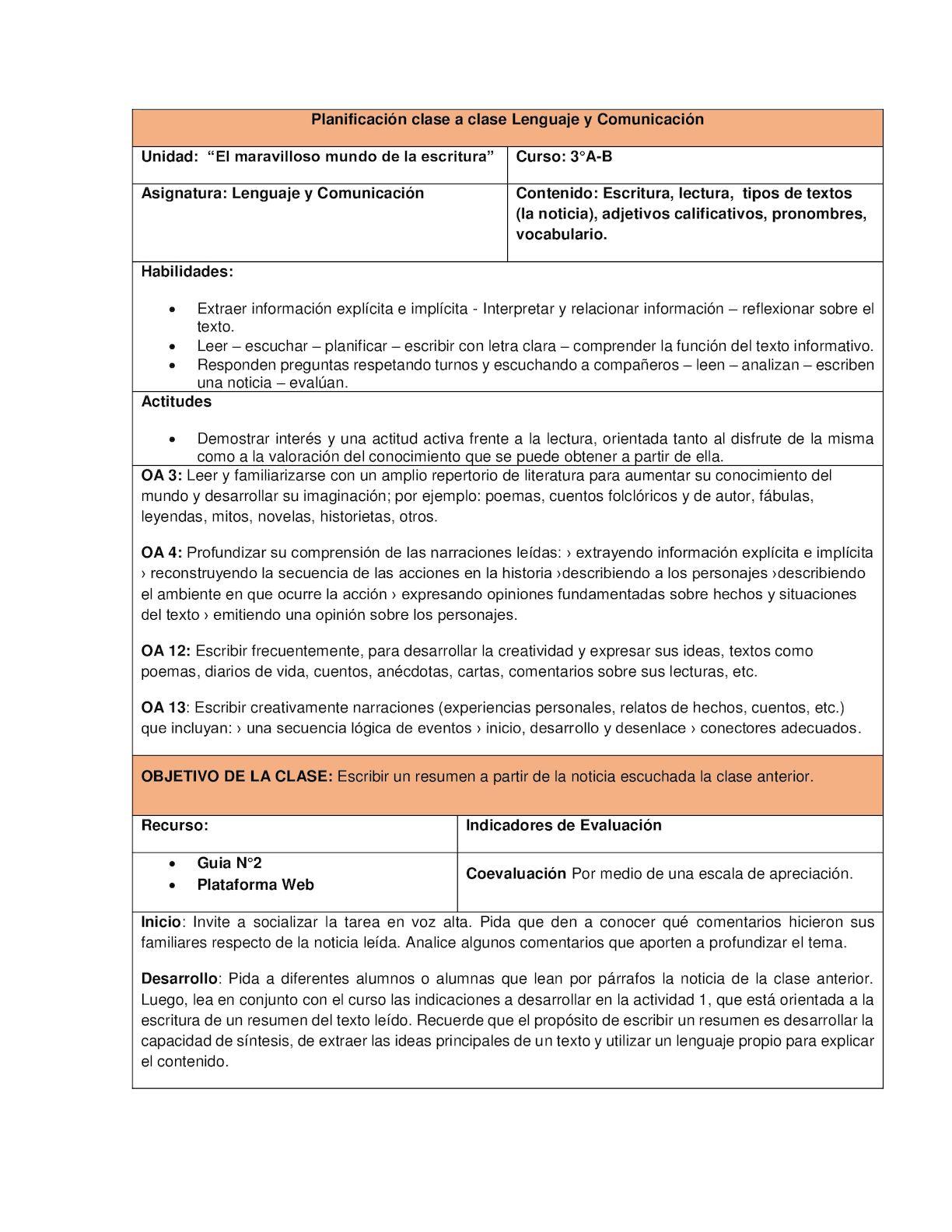 Calaméo - Planificación Clase 2