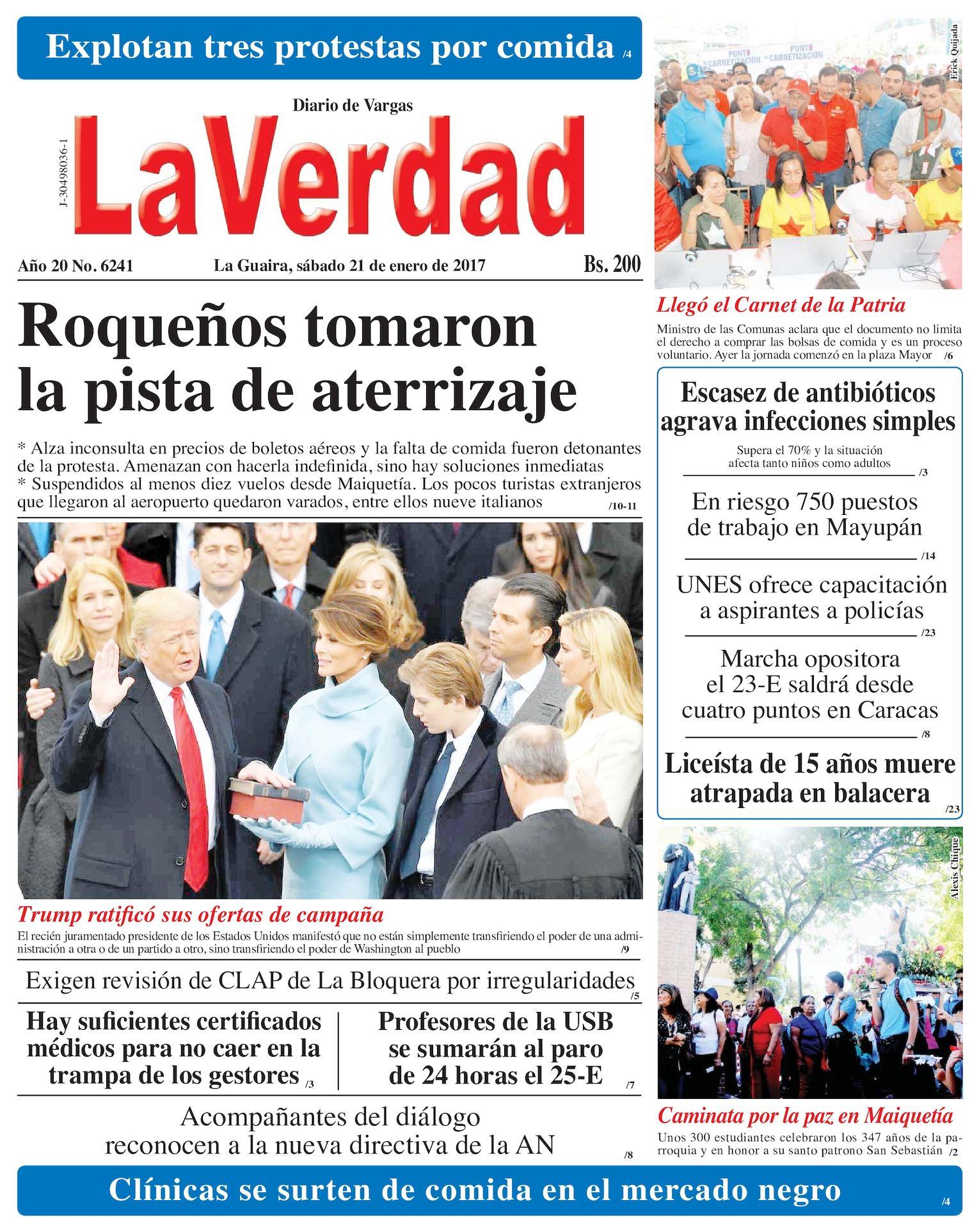 Calaméo - LA Guaira, sábado 21 de enero de 2017. Edición 6241