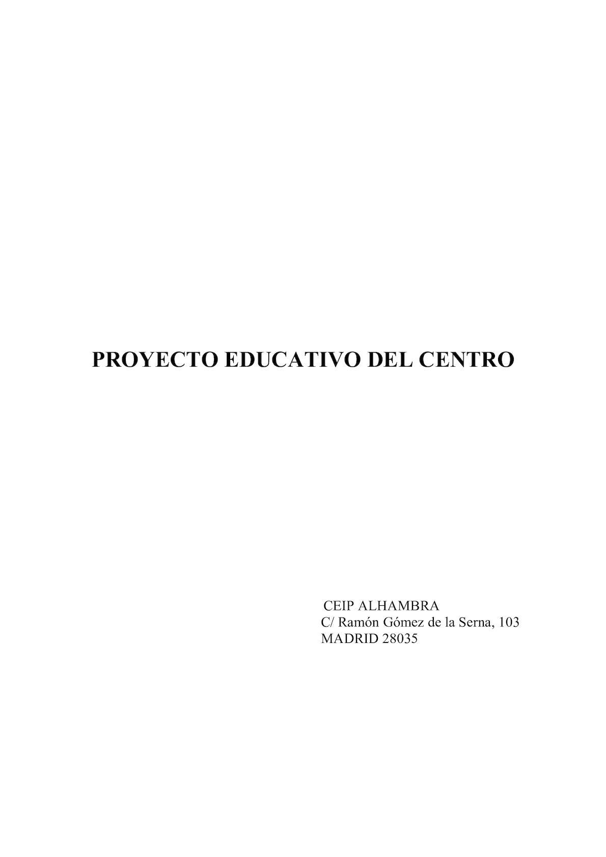 Proyecto Educativo - (Junio 2016)