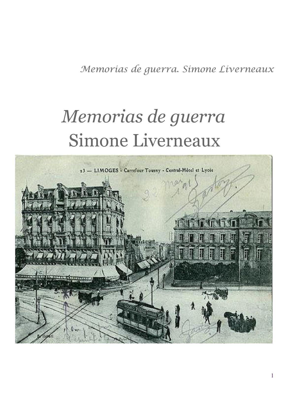 Memorias Guerra Simone Liverneaux