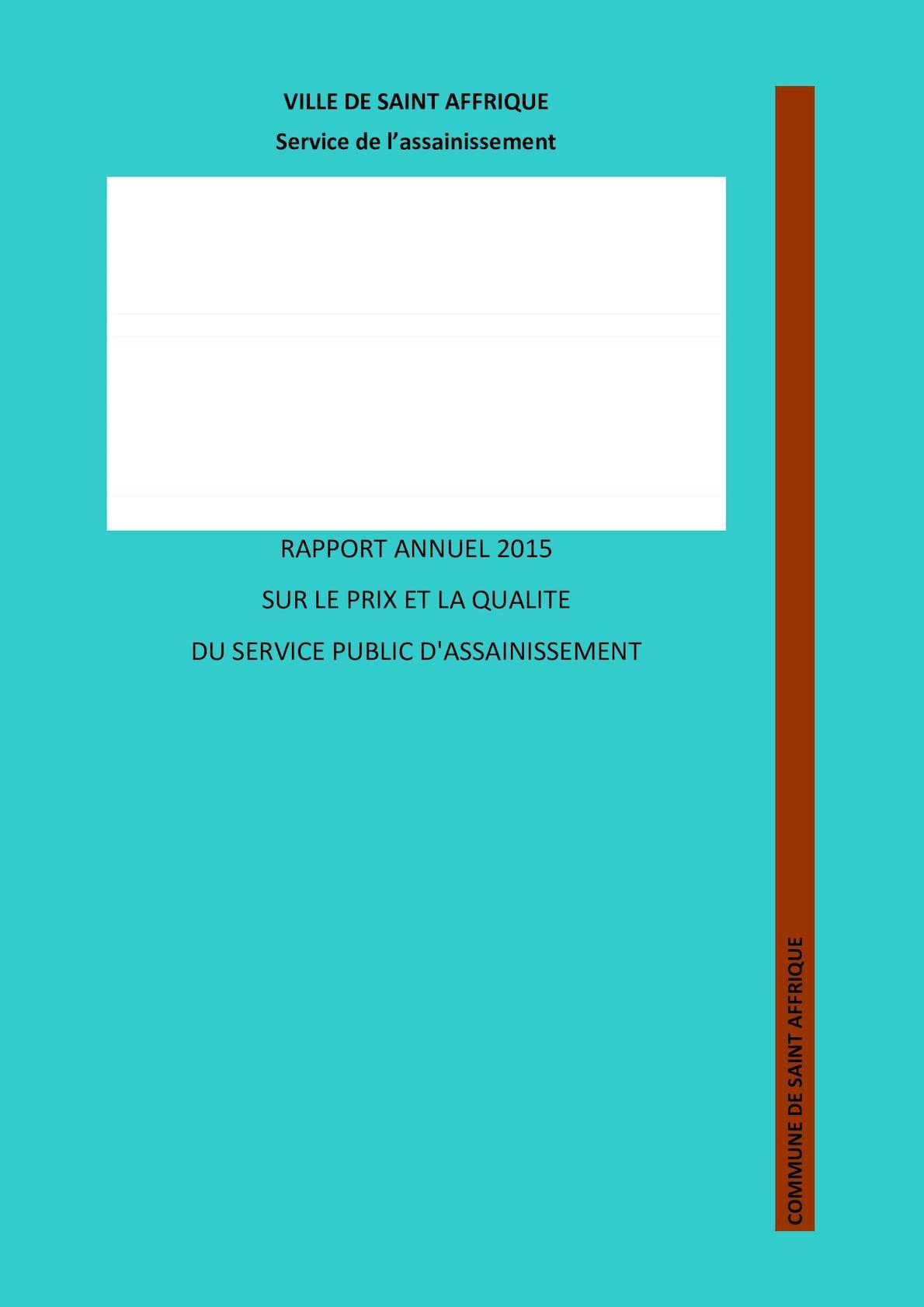 Calameo St Affrique Rapport 2015 Asst