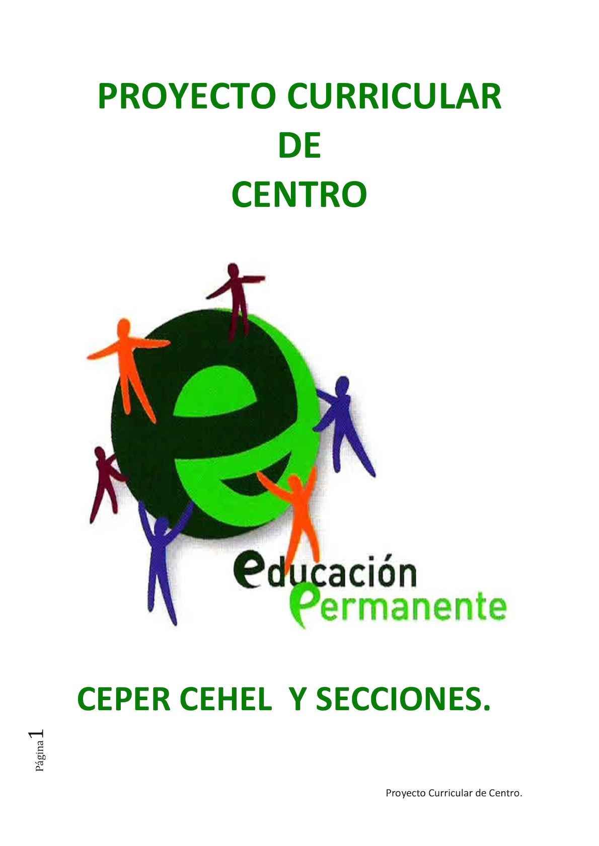 Calaméo - Proyecto Curricular De Centro