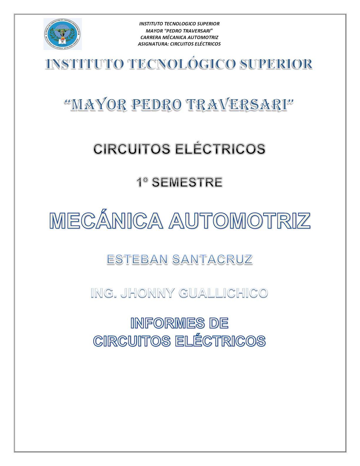 Circuito Mayor : Calaméo portafolio circuitos electricos