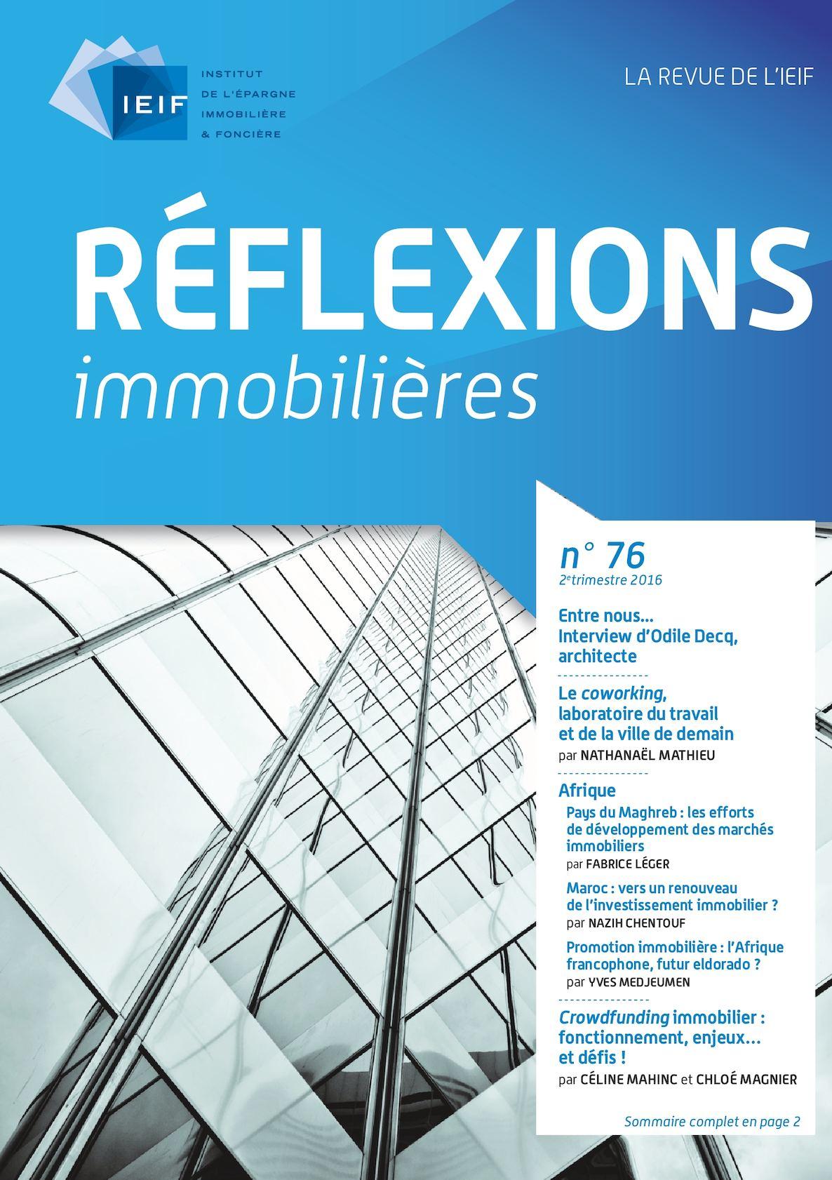 revue IEIF marketing immobilier pour la commercialisation des grands immeubles de bureaux