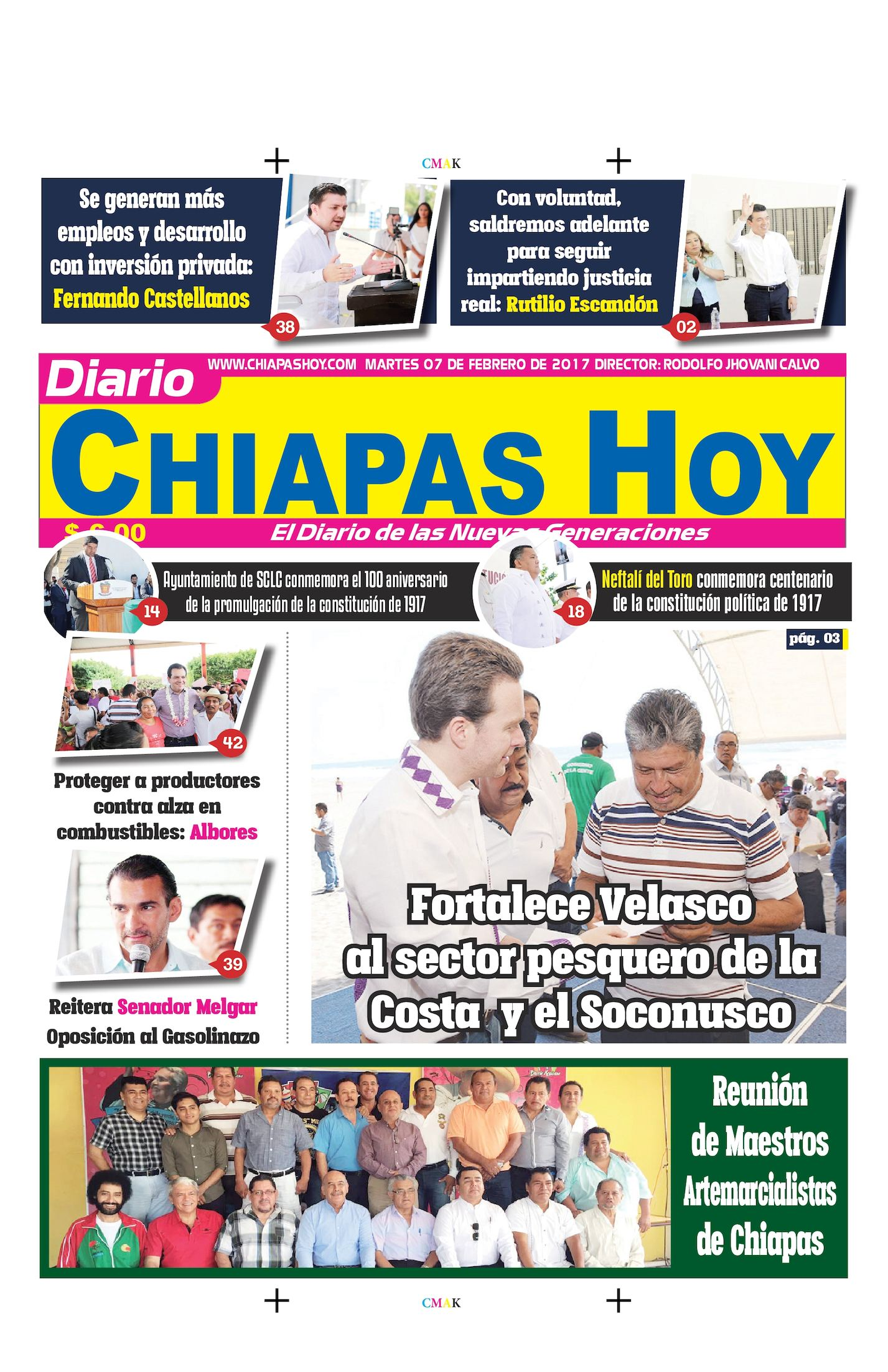 Chiapas Hoy 07 De Febrero