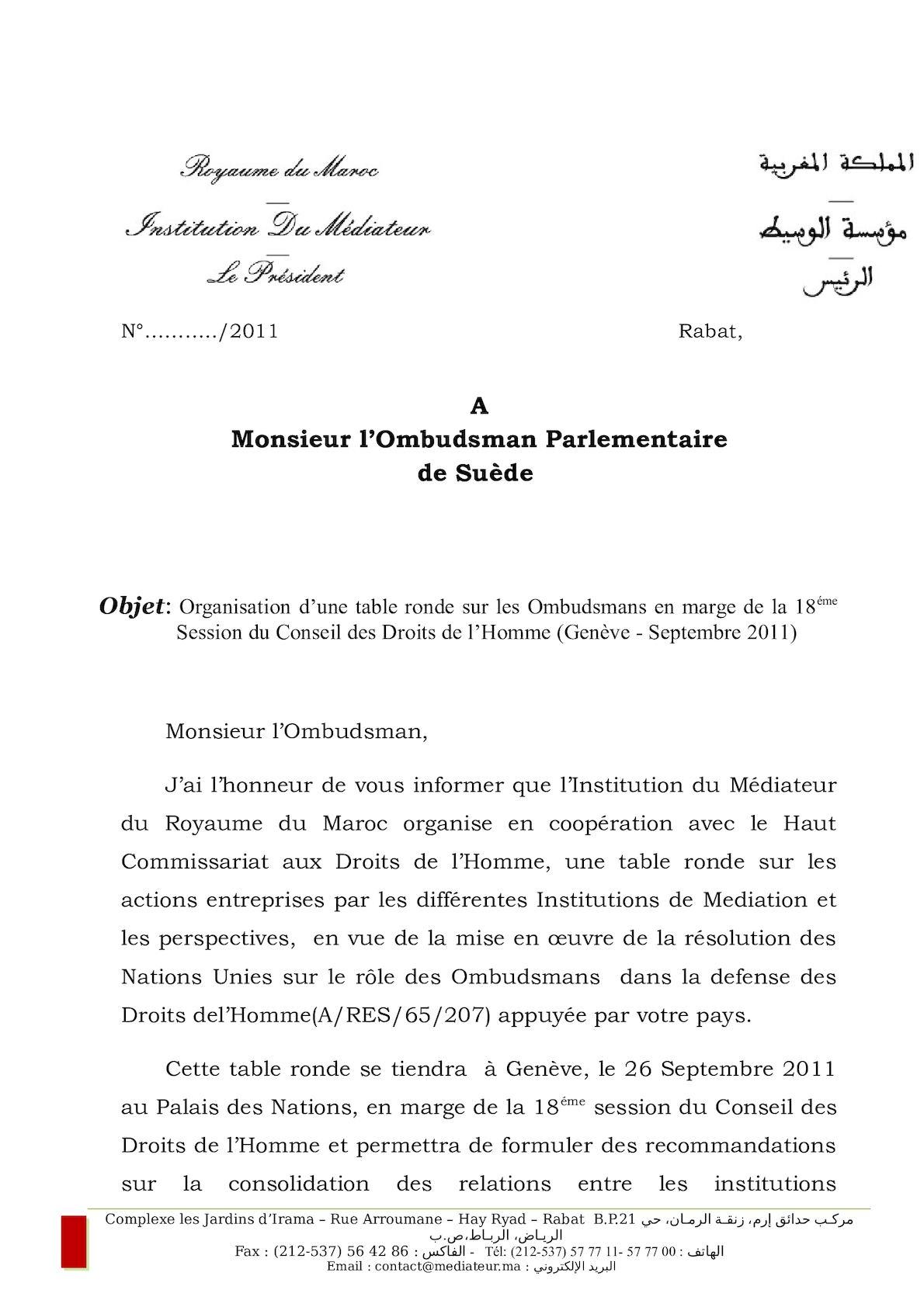 Monsieur L'Ombudsman Suédois
