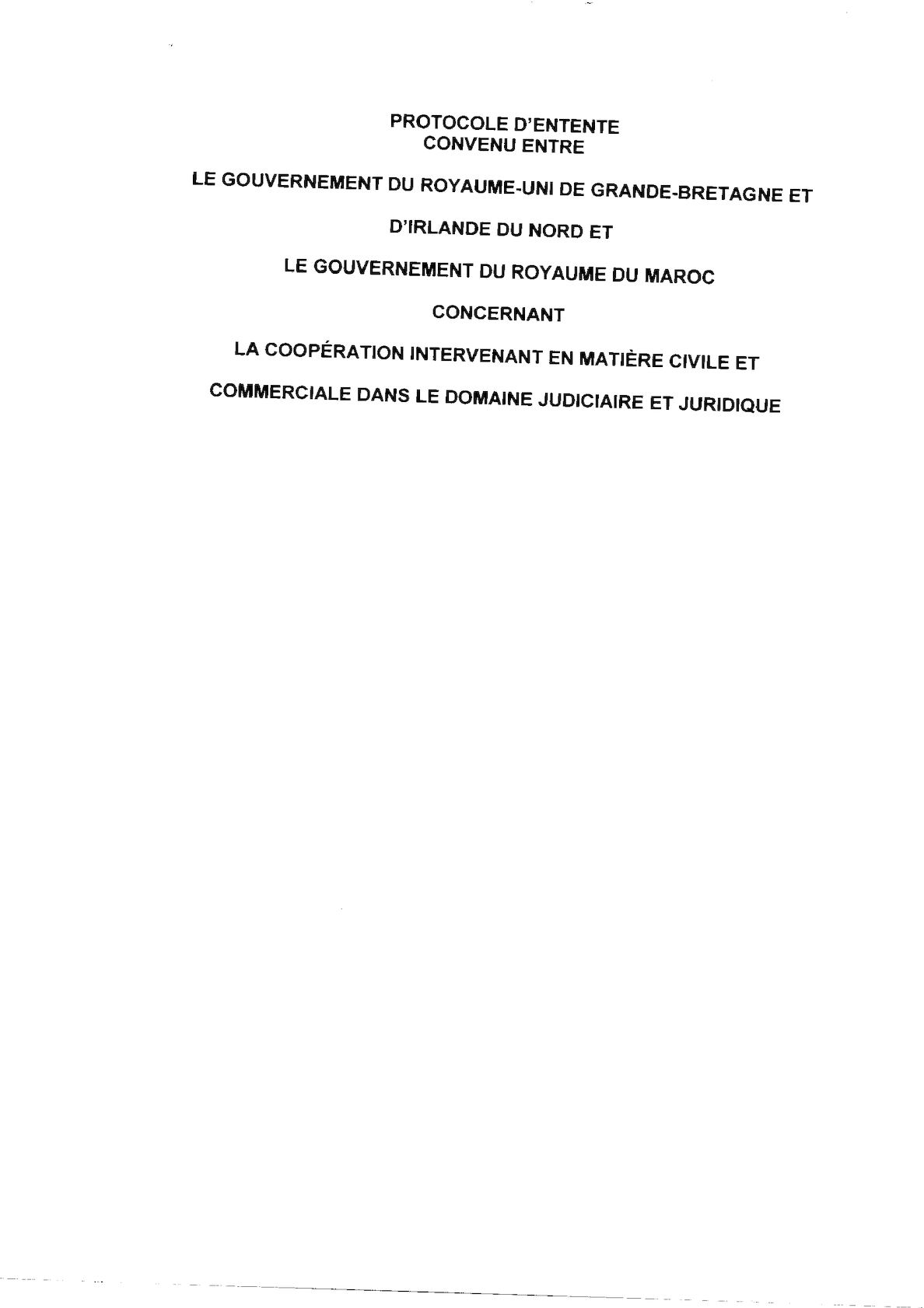 Projets Accords Coopération Judiciaire 2