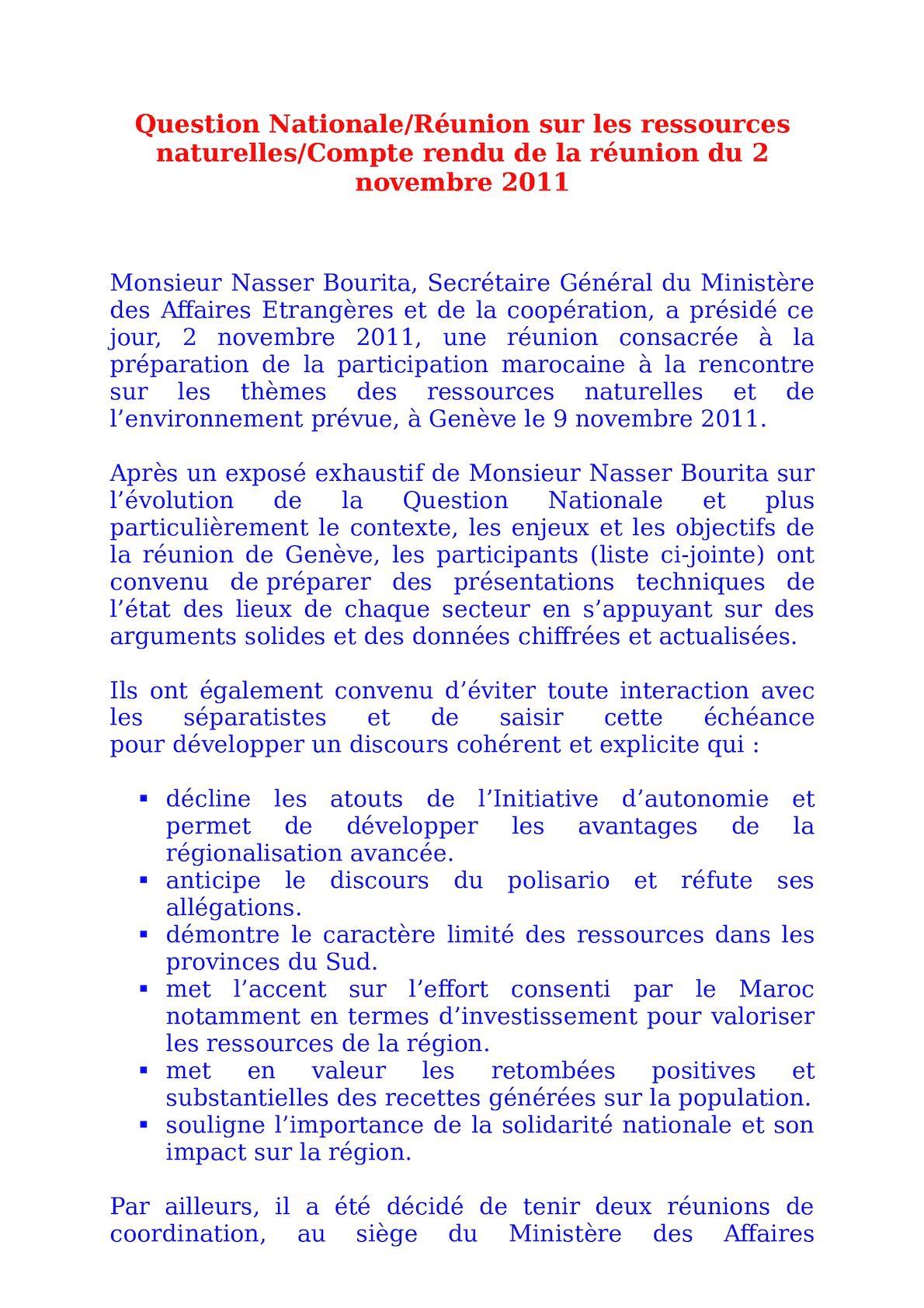 PV Réunion 2 Novembre 2011