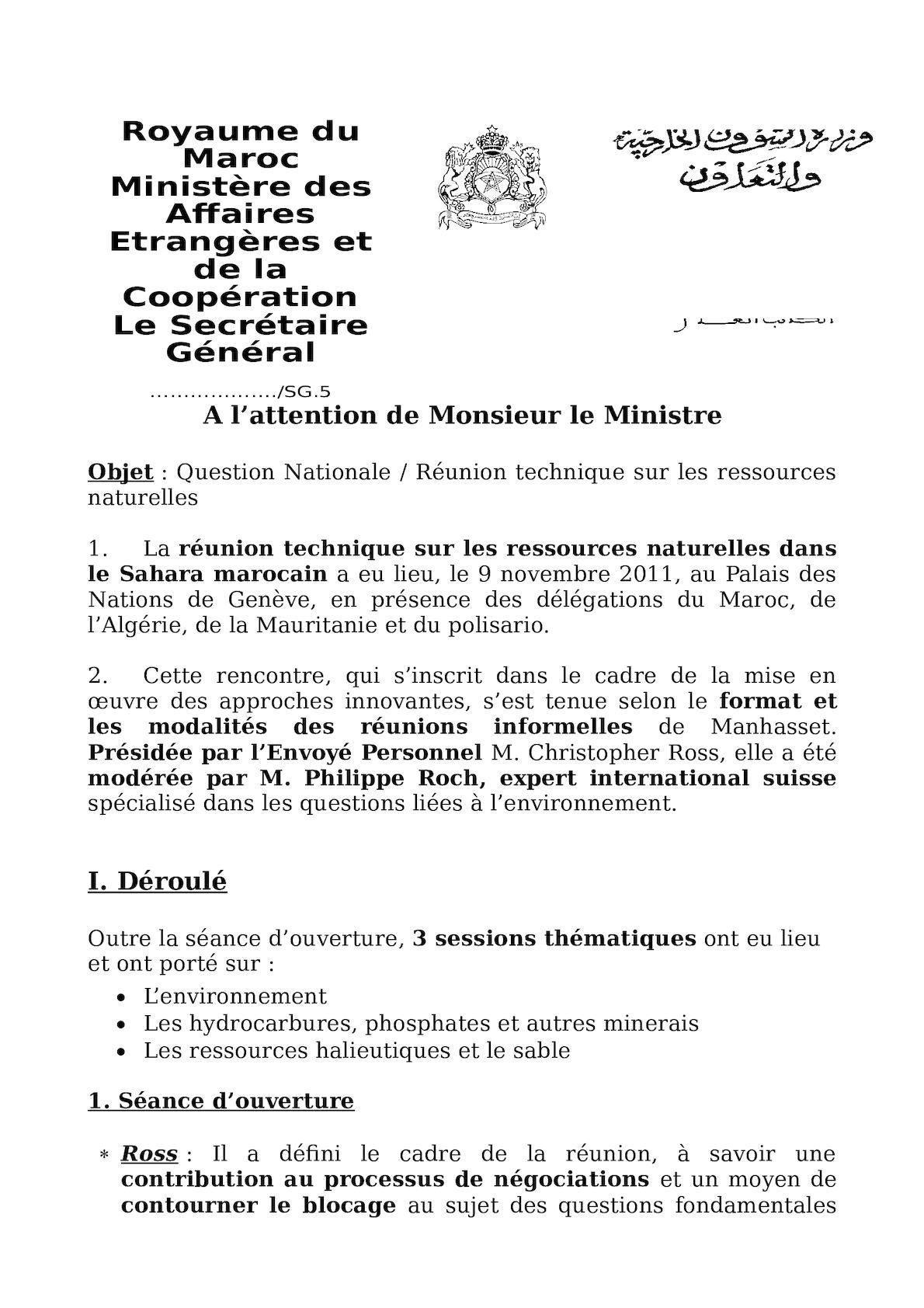 QN - Réunion Sur Les Ressources - CR