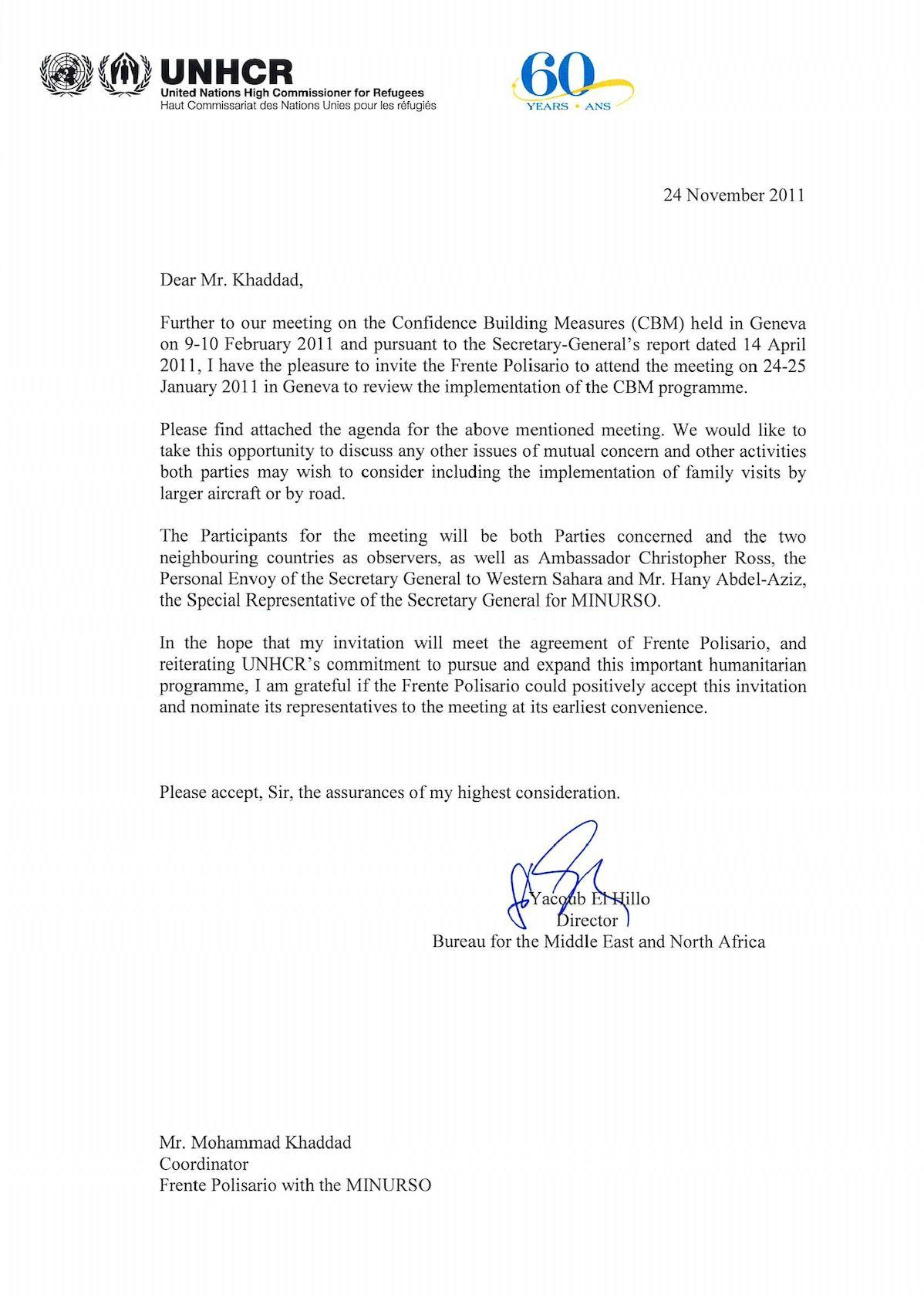 Scanned Letter Polisario With MINURSO CBM(1).