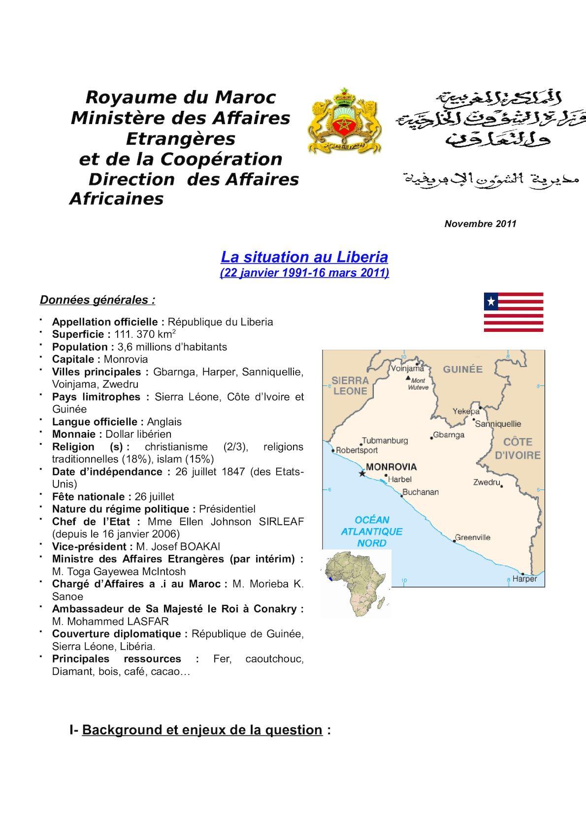 Situation Au Liberia