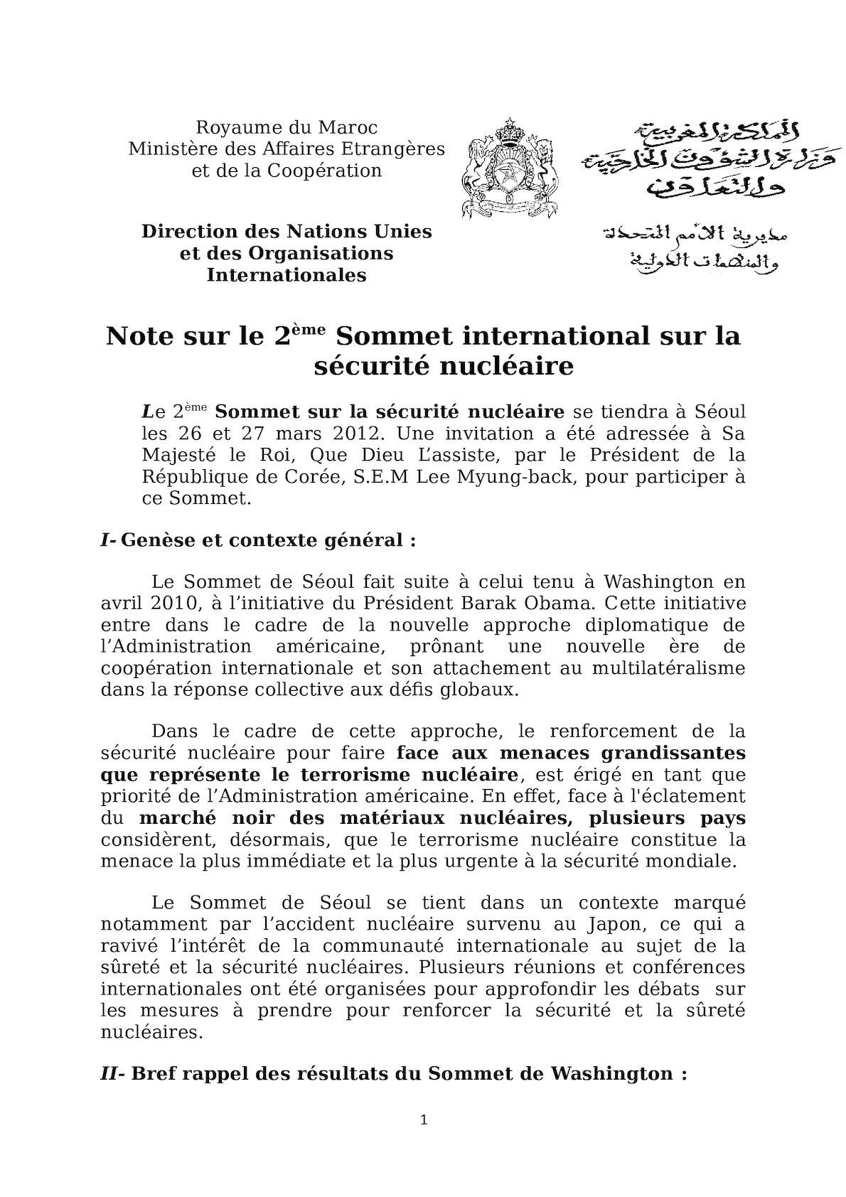Note Sur Le 2ème Sommet  Sécurité Nucléaire 2003 (2).