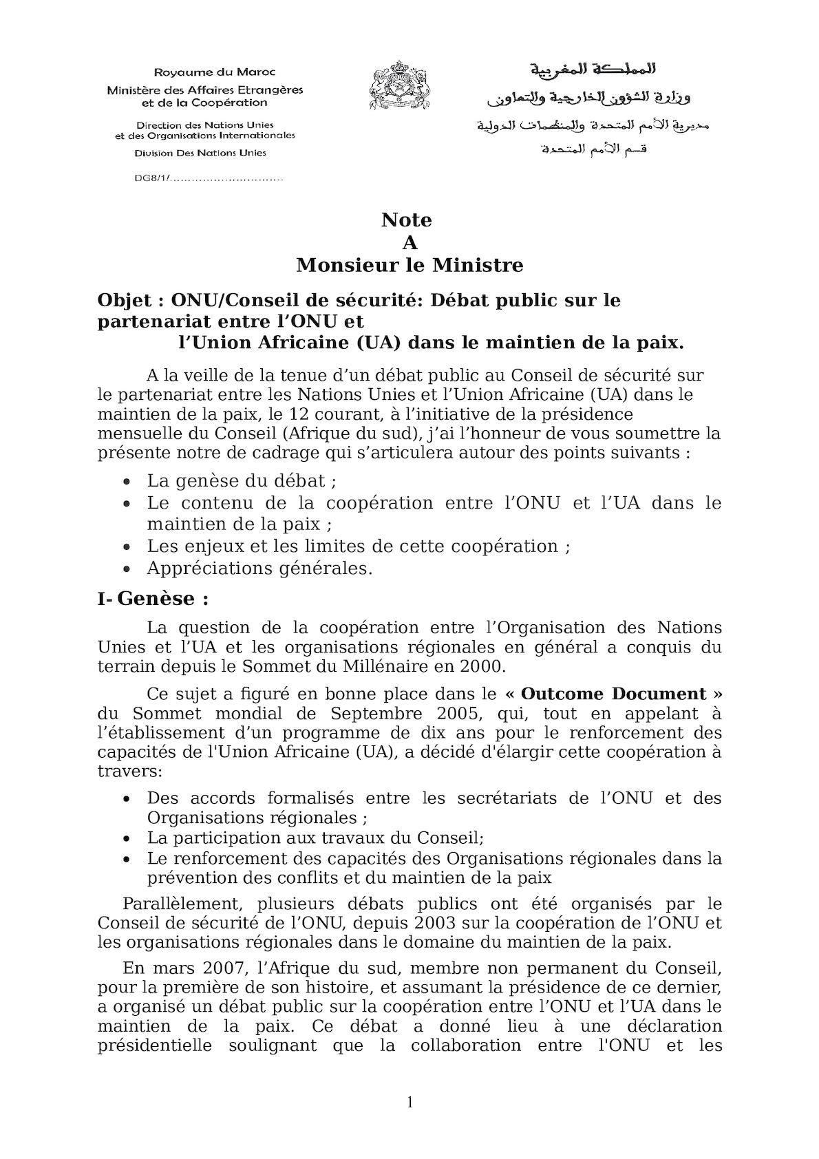 Note De Cadrage ONU UA