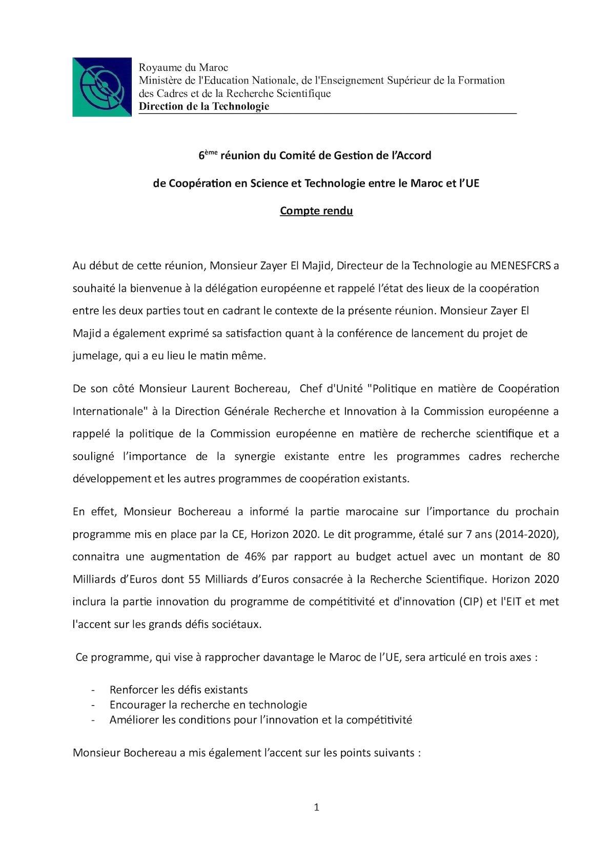 Minutes 6ème Réuion CA Version Finale
