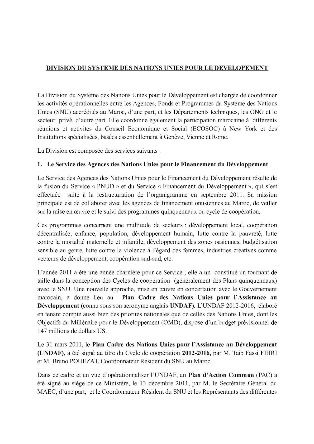 Division Du SNUD. Répartition Des Dossiers