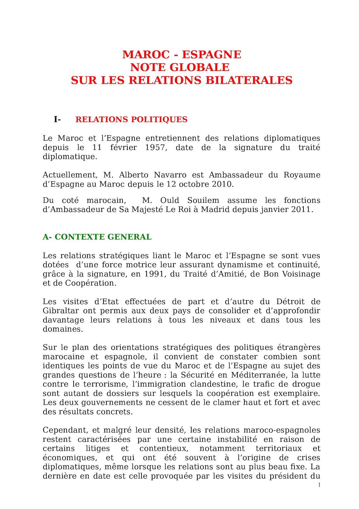 Note Espagne G Version Janvier 2011 Bonne