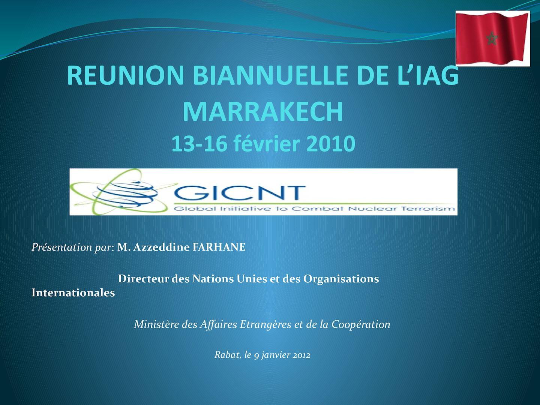 Présentation PPT - Réunion De Coordination Internministérielle - Draft 1