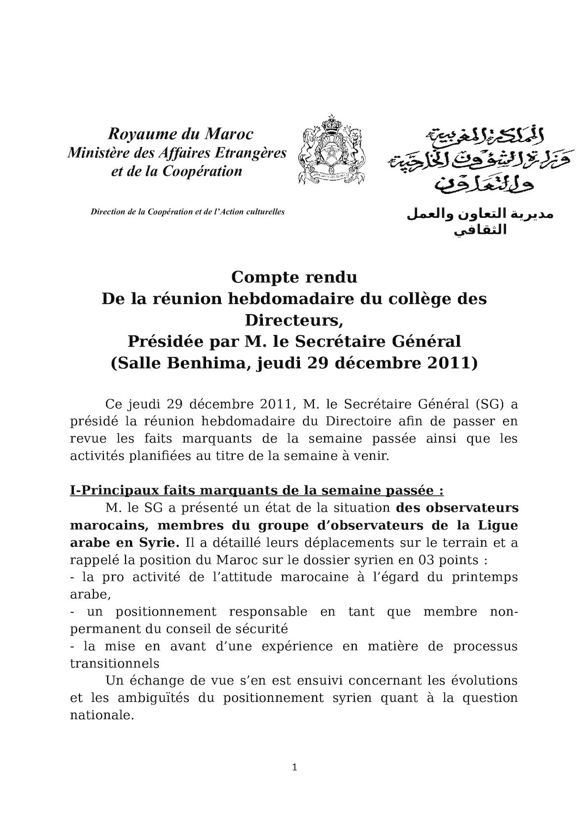 Cr Directoire 29 12 11