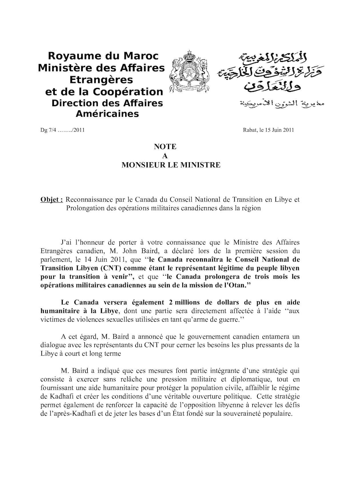 Note Sur La Reconnaissance De La CNT