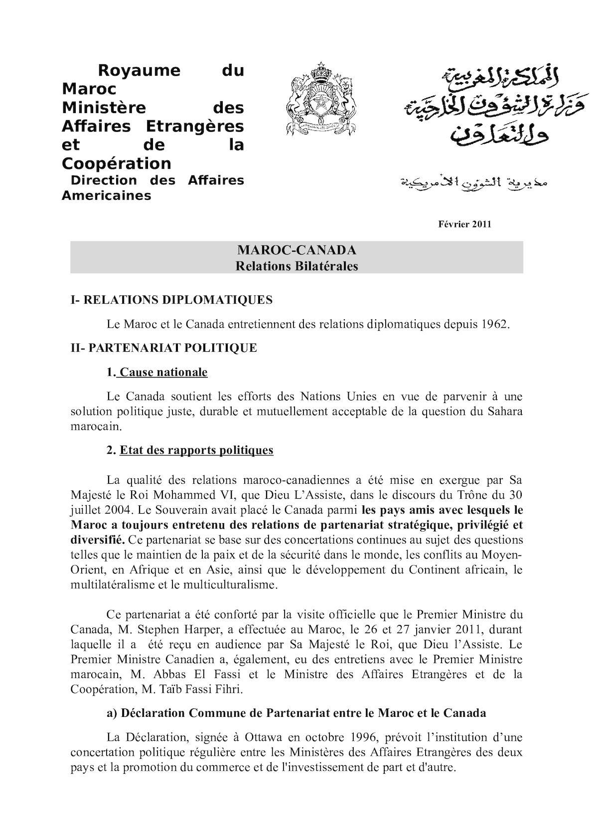 Fiche SUCCINTE Relations Bilaterales  2011 (3).