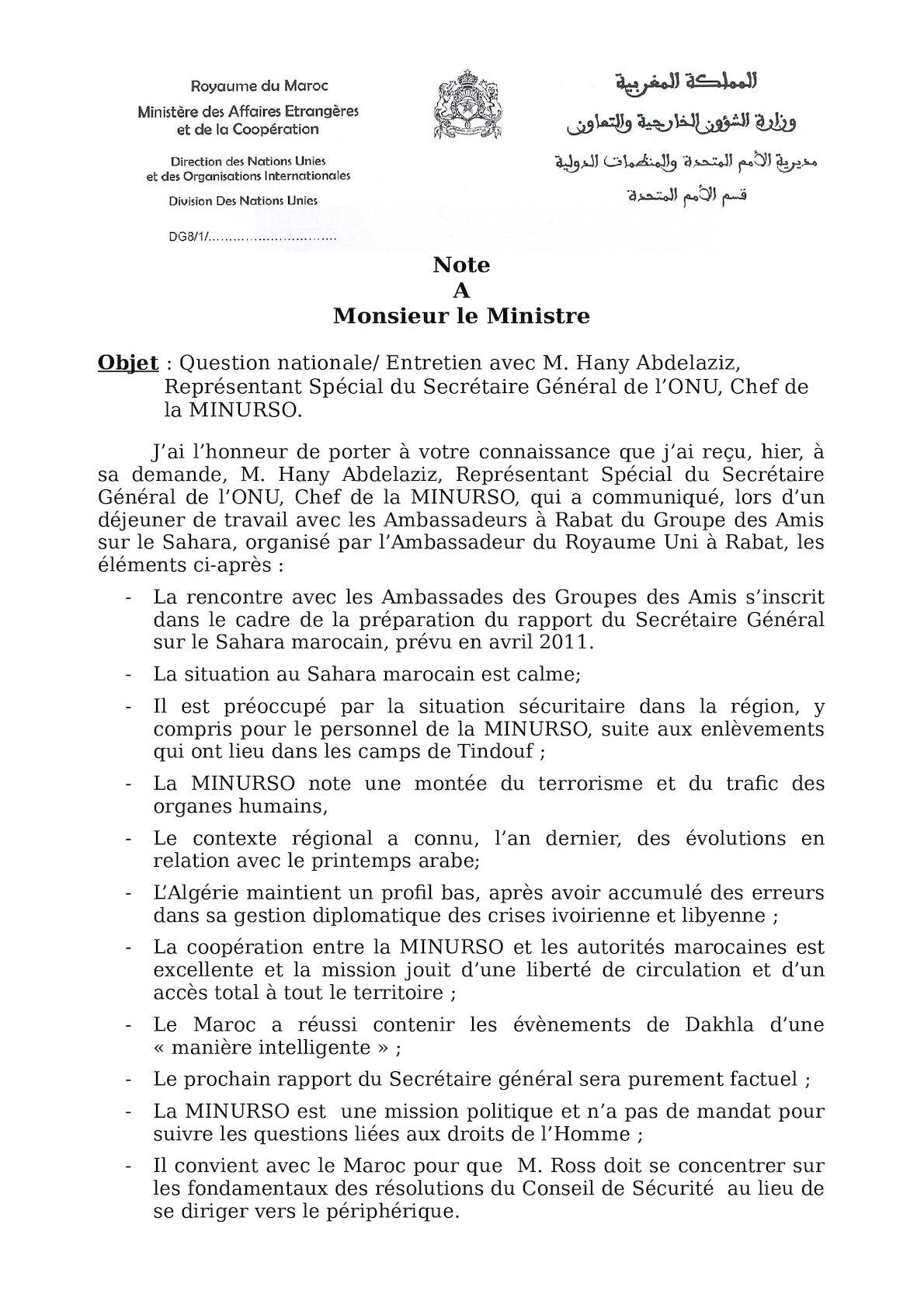 Note Entretien Avec Hany Abdelaziz 12 Janvier 2012