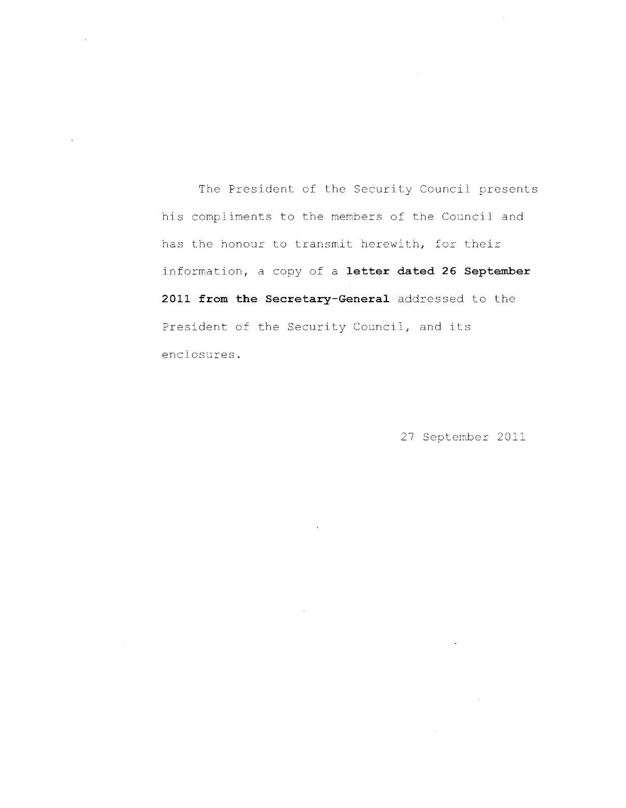 270911 Sg Letter Of 26 Sep (Nato)