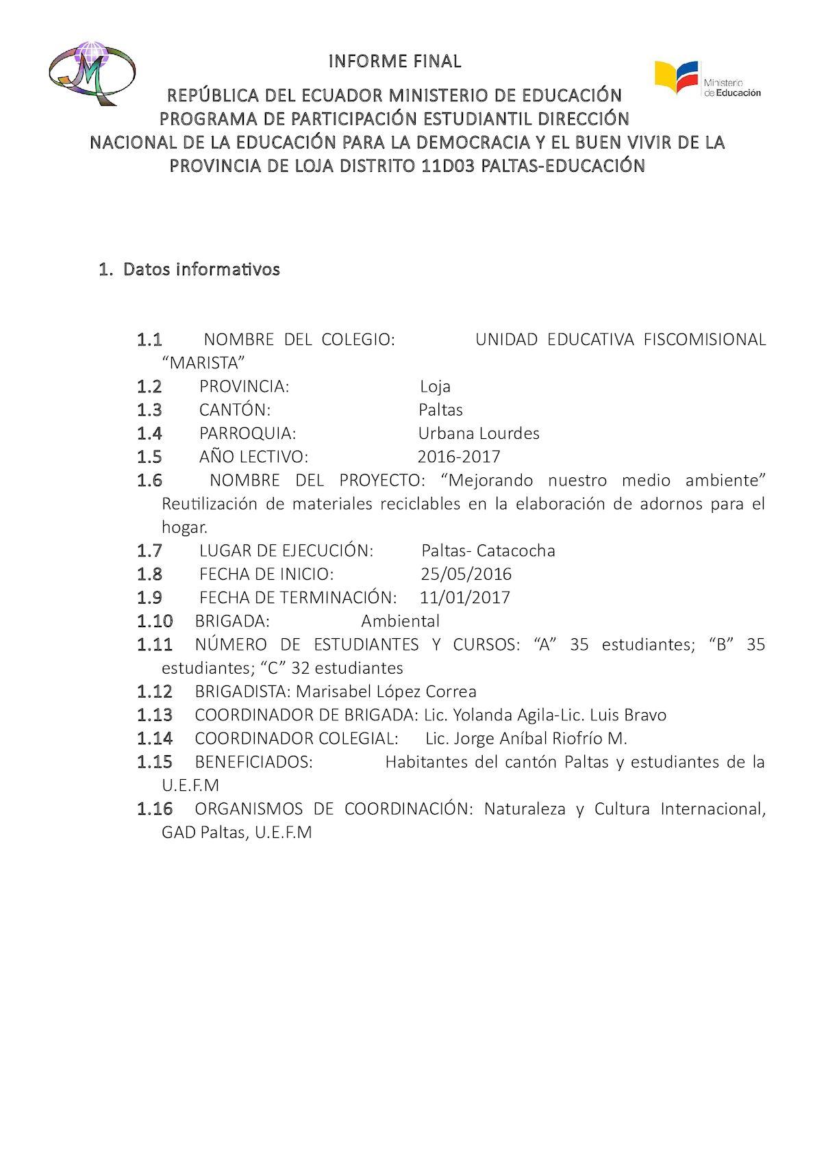 Calaméo - Informe Final De Participacion Estudiantil