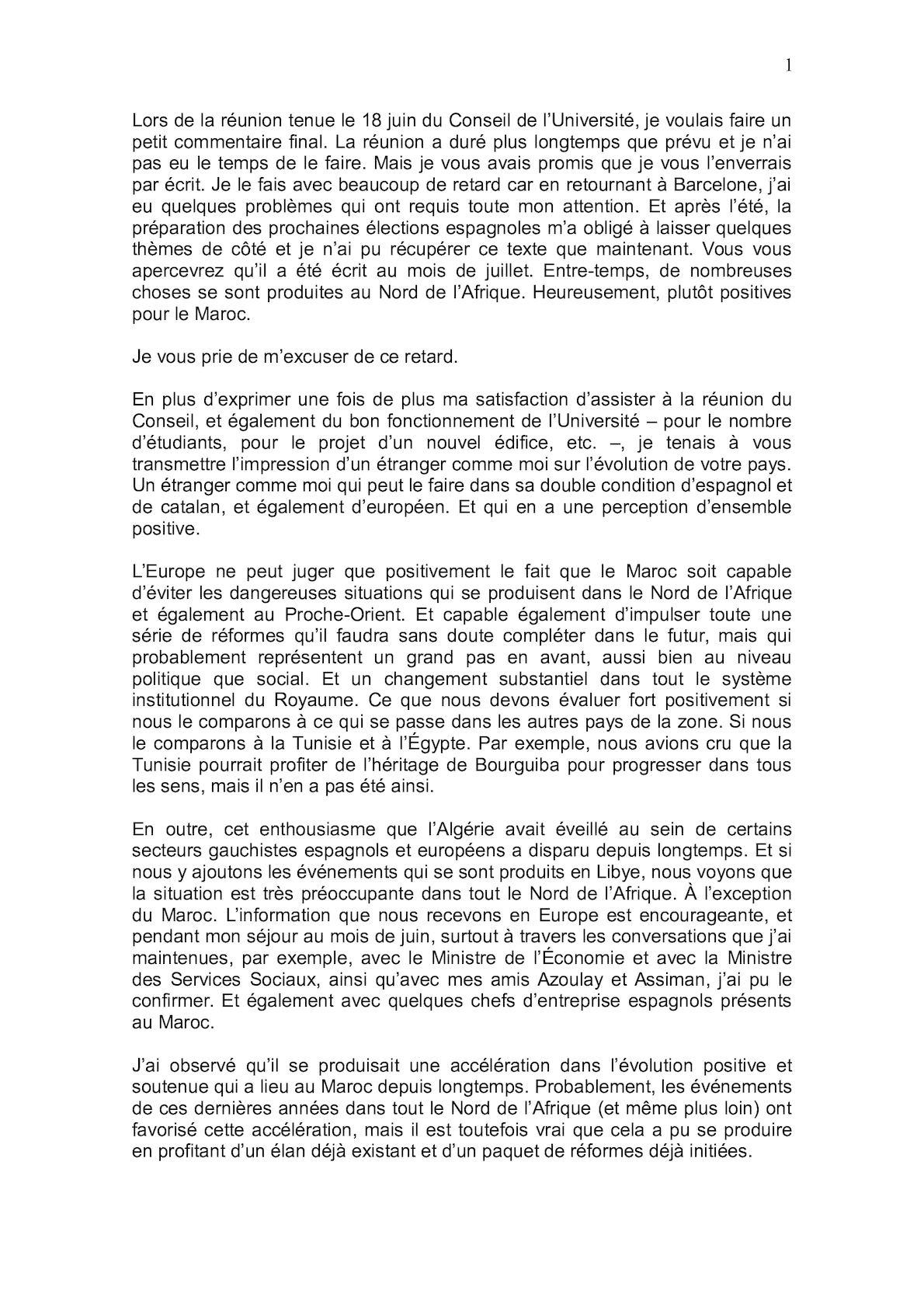 Commentaires Sur Le Maroc September 2011