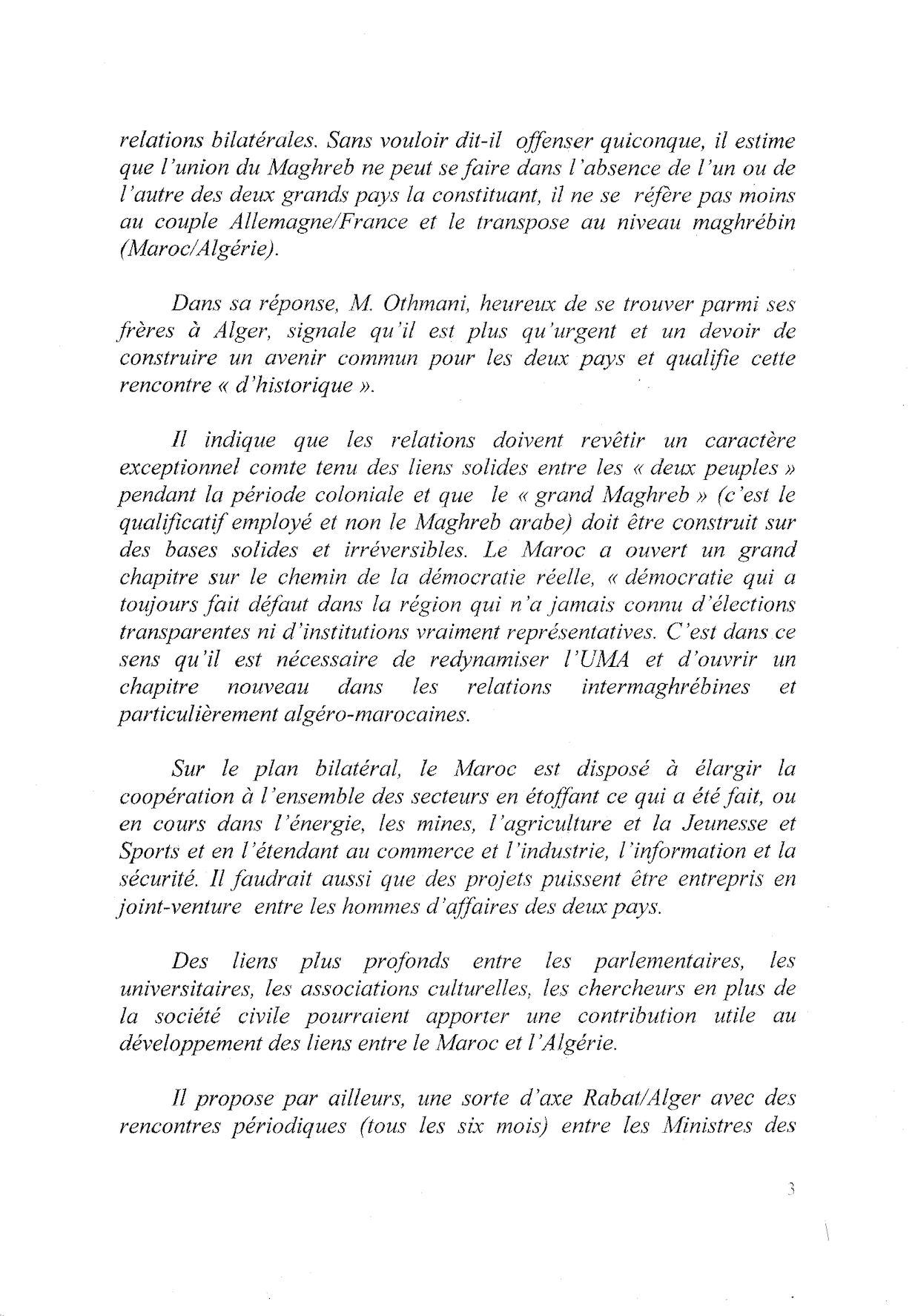 rencontres maroc algerie