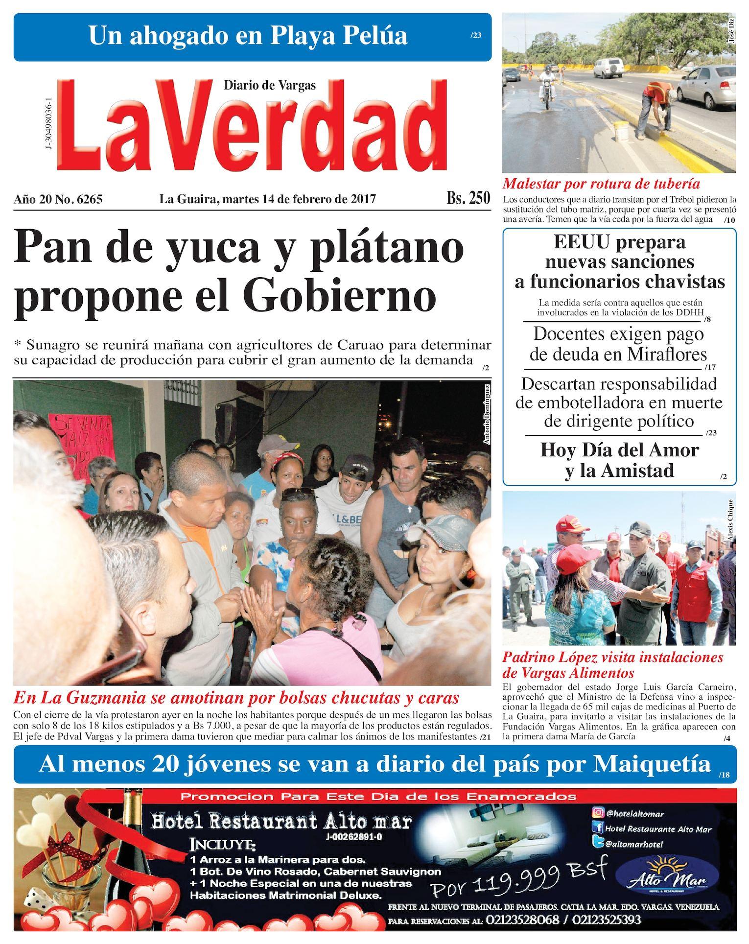 Calaméo - La Guaira, martes 14 de febrero de 2017 Año 20 No. 6265