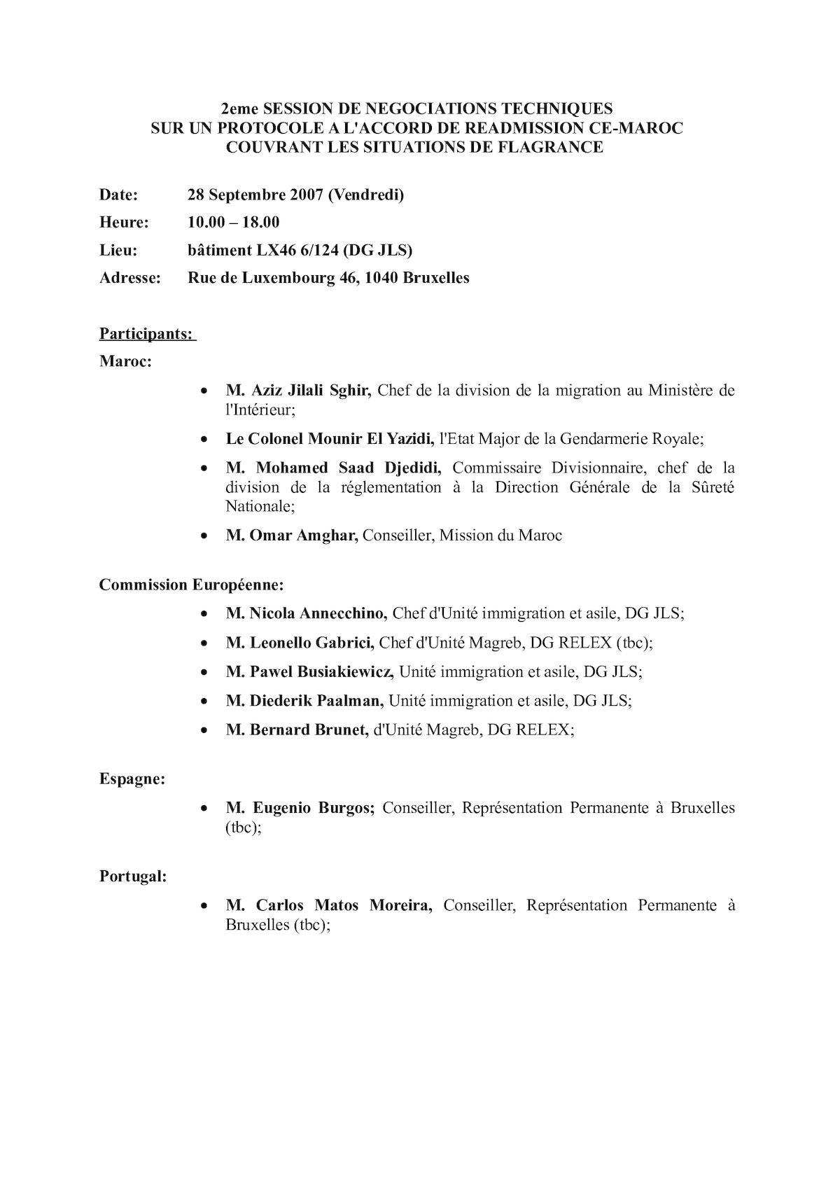 Protocol - Participants 2nd Session