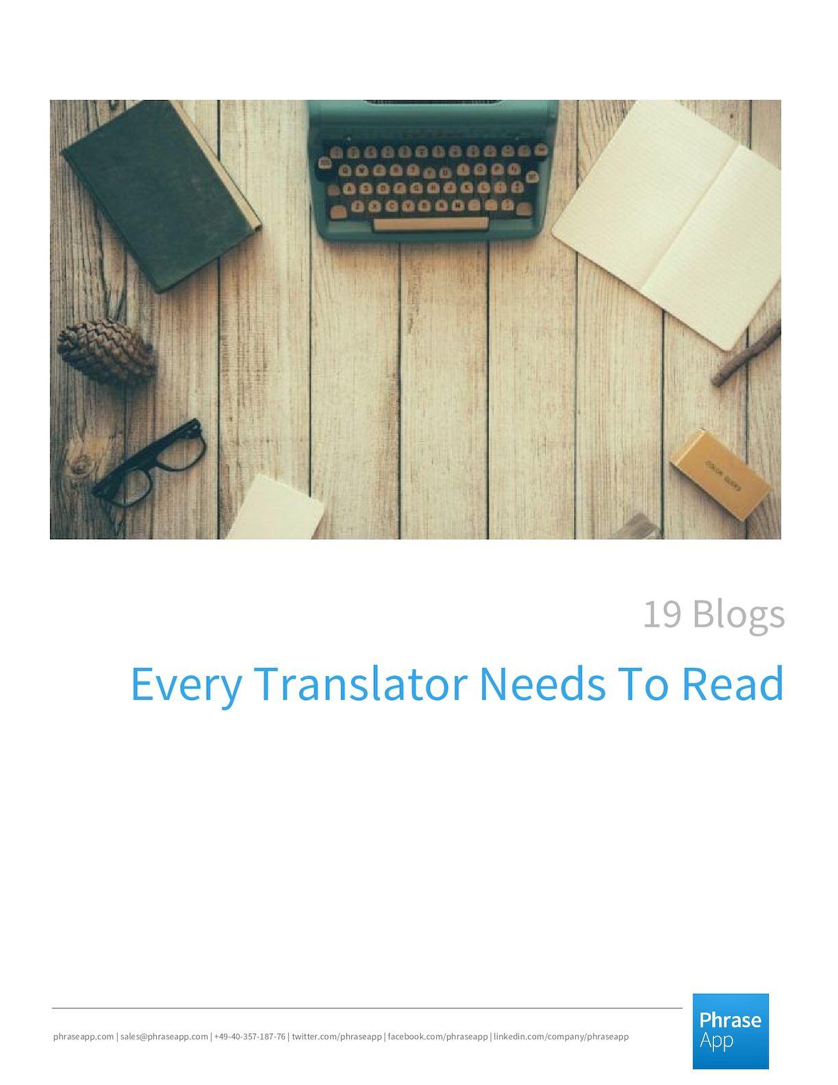 19 Blogs Every Translator Needs To Read