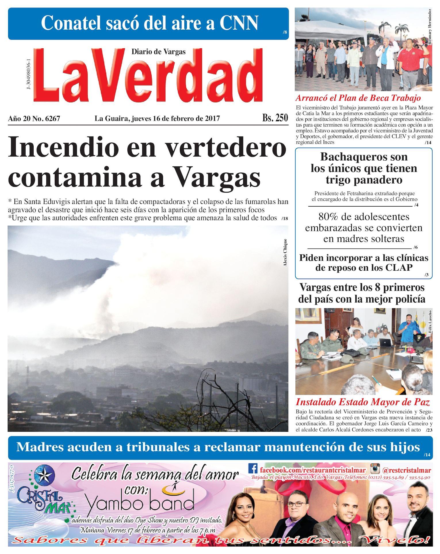 Calaméo - La Guaira, jueves 16 de febrero de 2017 Año 20 No. 6267