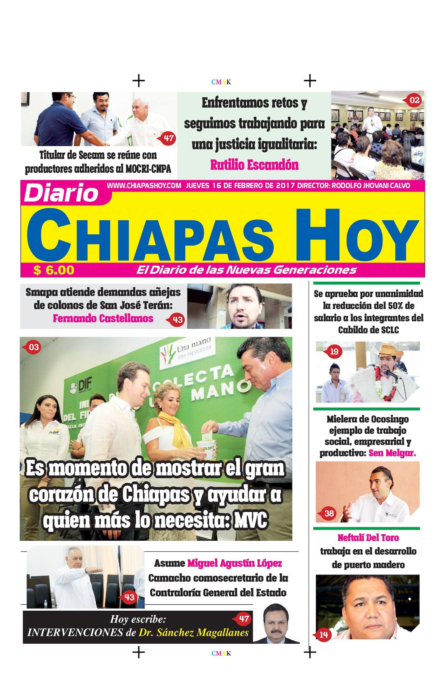 Chiapas Hoy 16 De Febrero